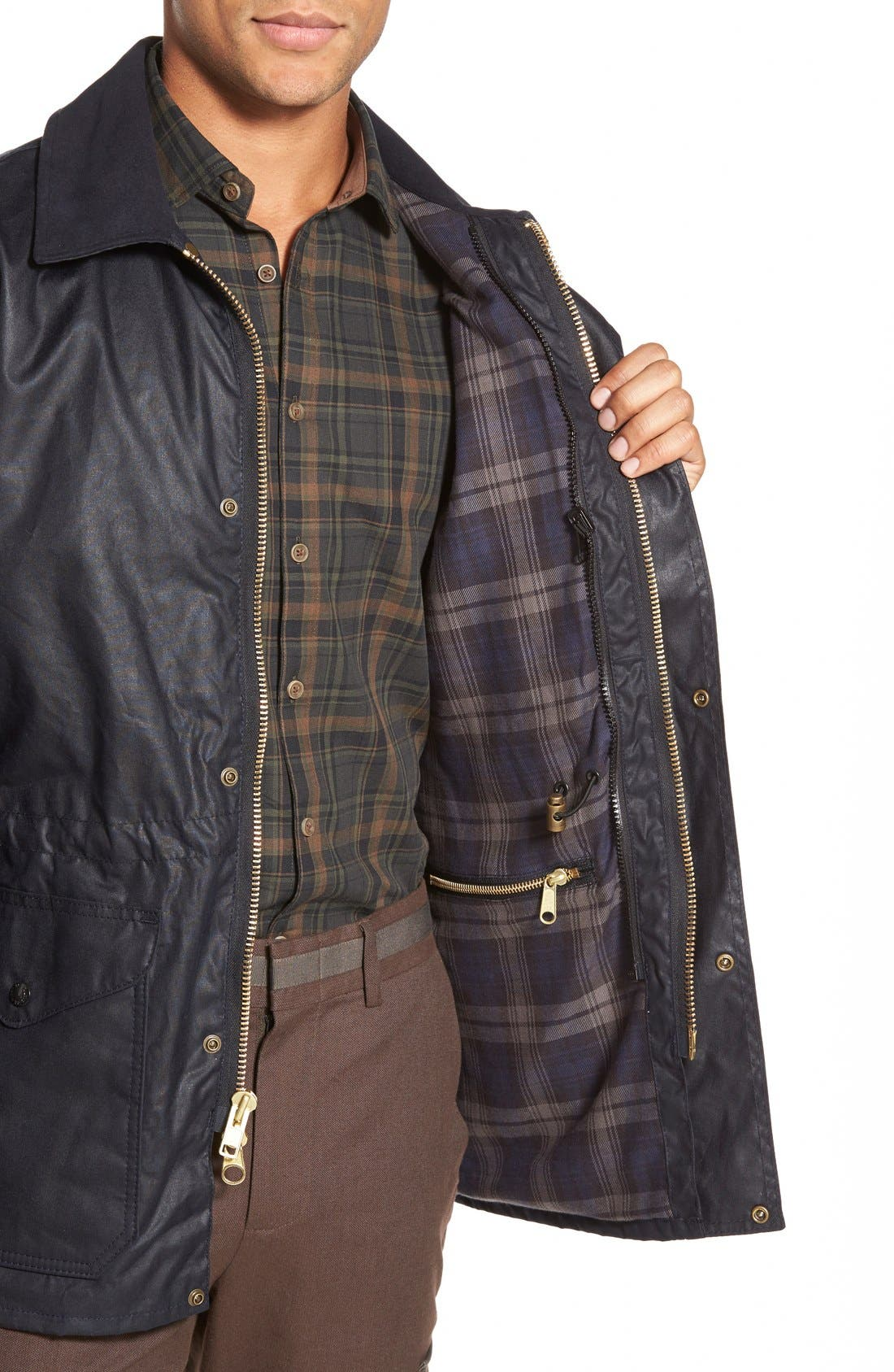'Cover Cloth Mile Marker' Waxed Cotton Coat,                             Alternate thumbnail 12, color,