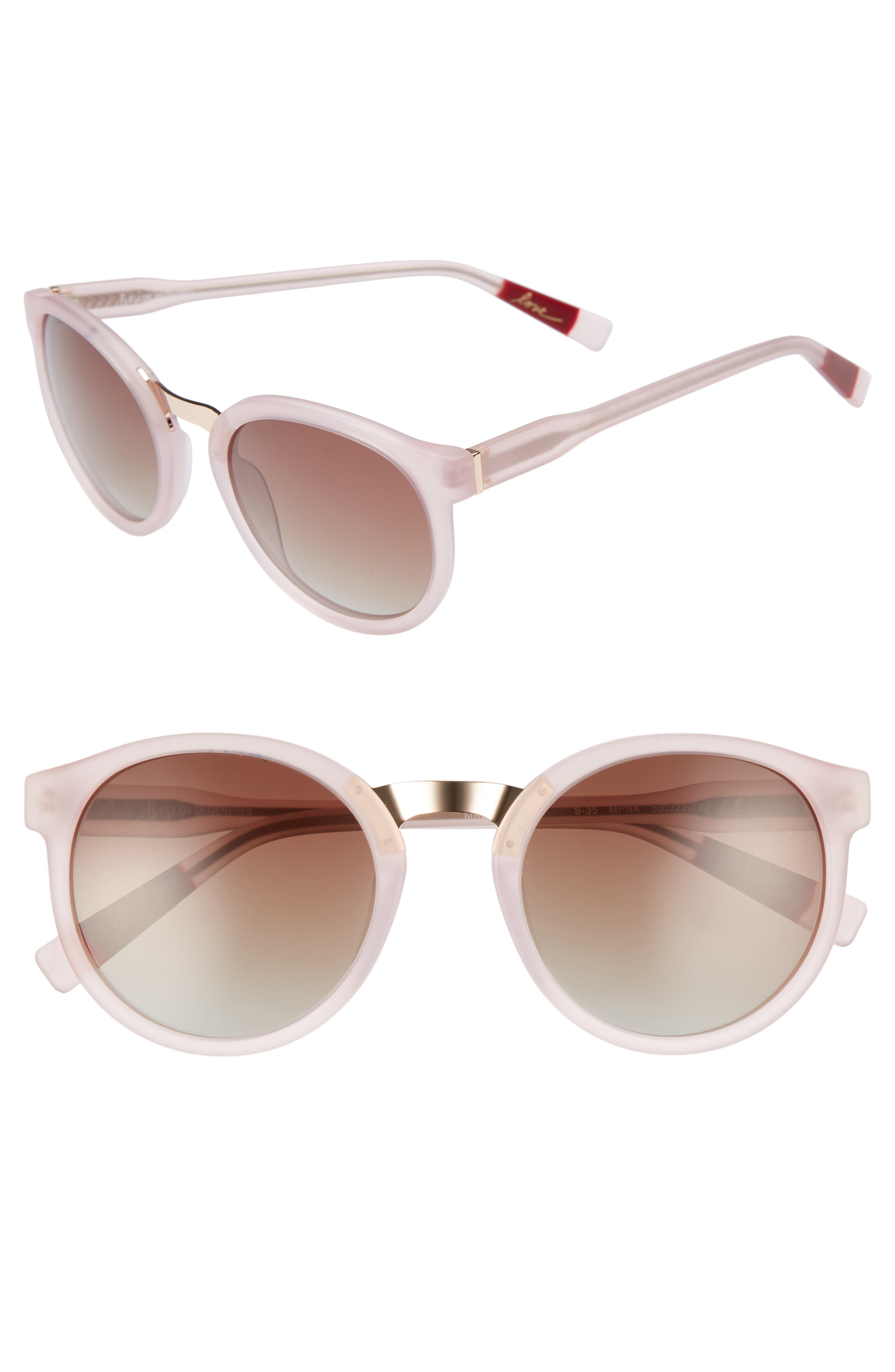 53mm Round Sunglasses,                             Main thumbnail 4, color,