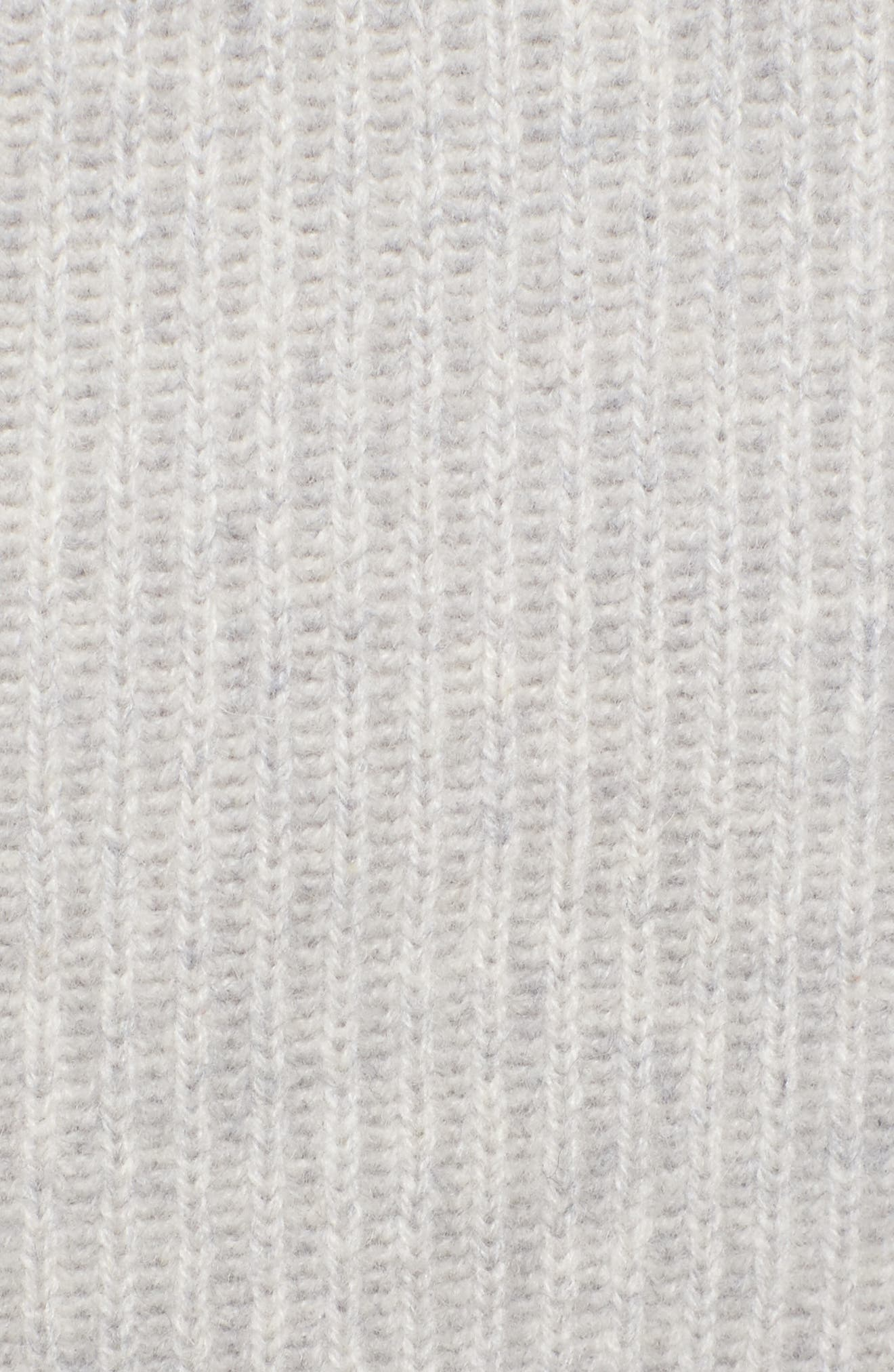 Scarf Neck Cashmere Sweater,                             Alternate thumbnail 5, color,                             050