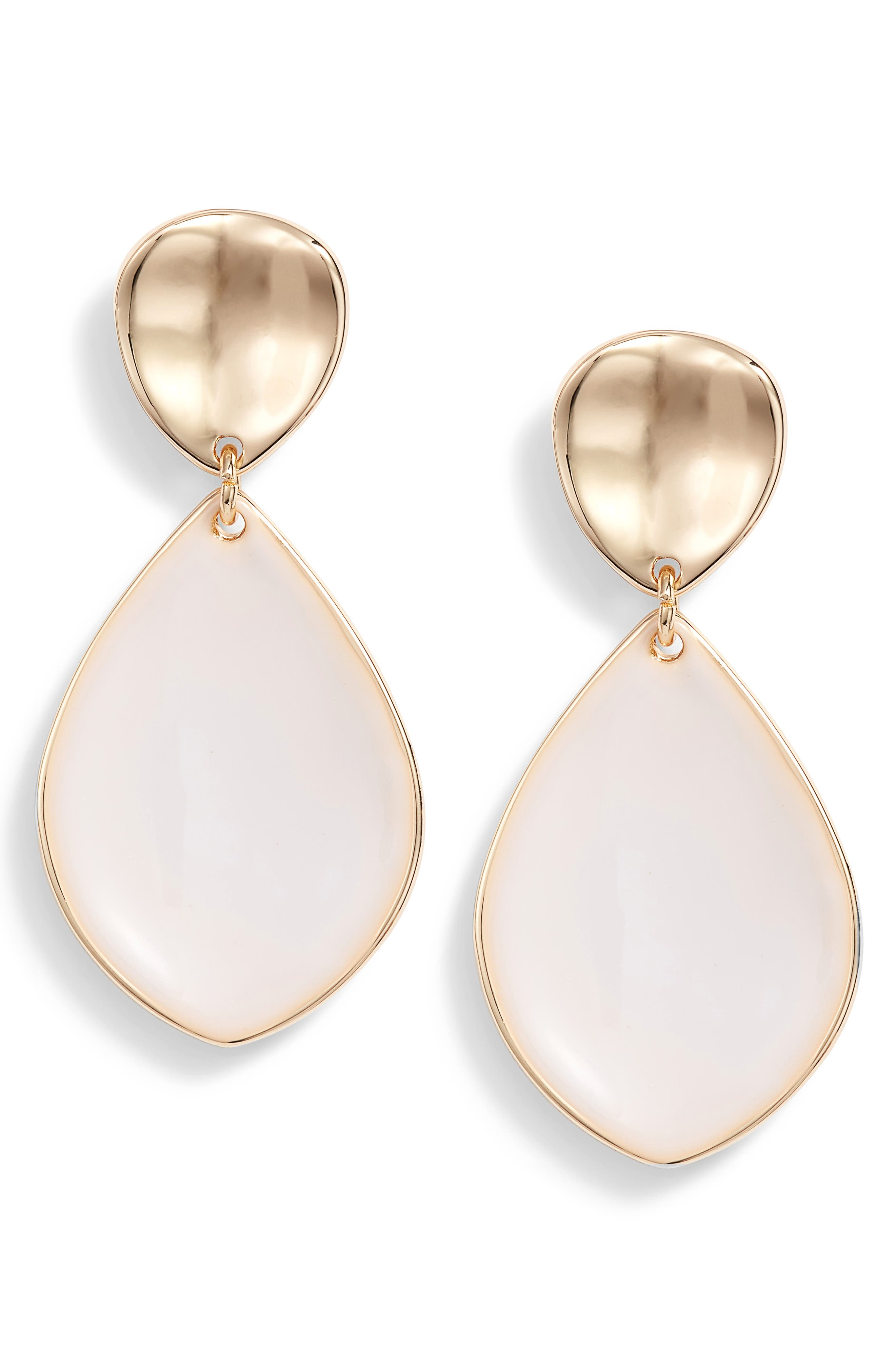 Painted Petal Double Drop Earrings,                             Main thumbnail 1, color,