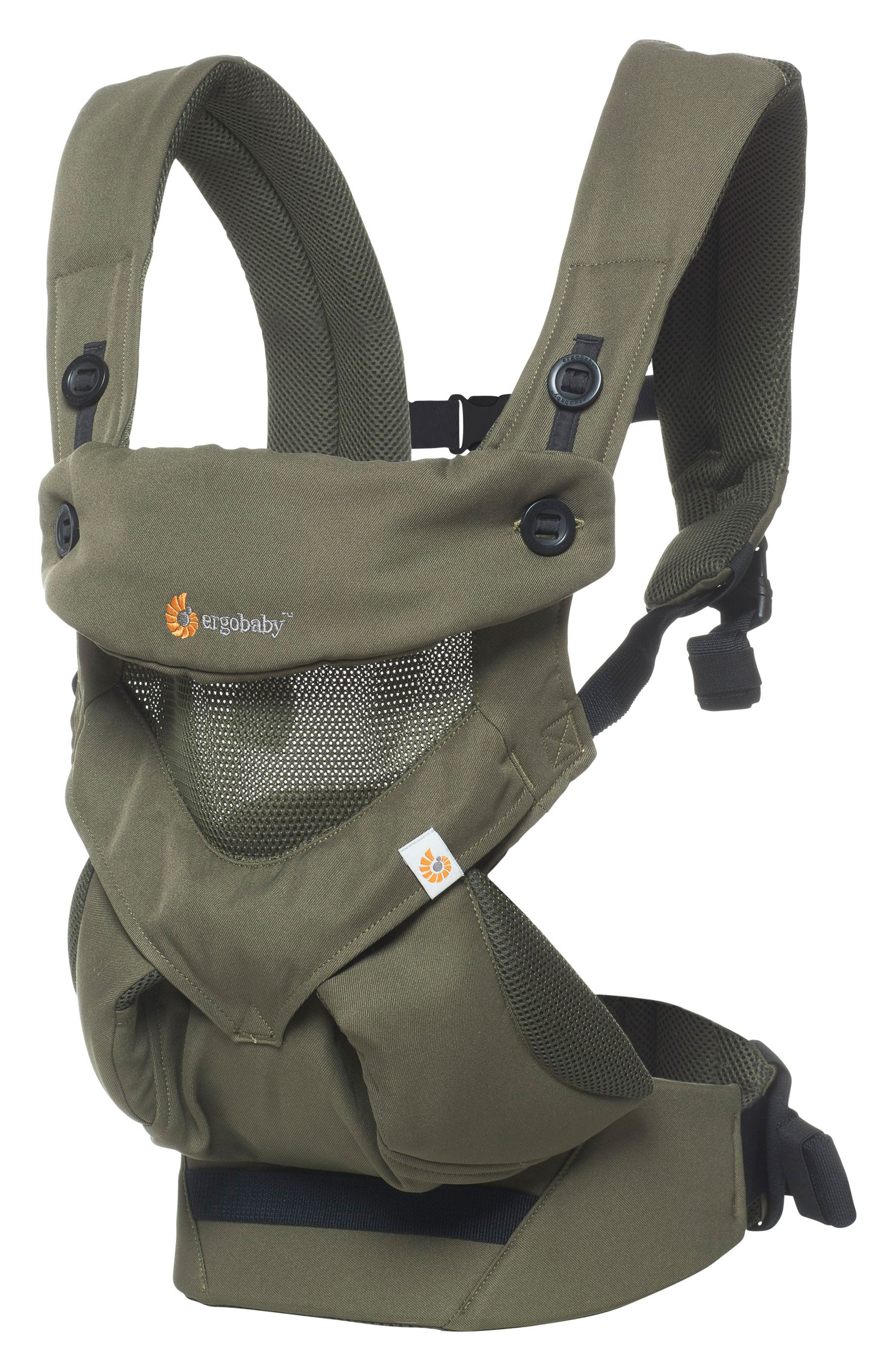 Four Position 360 - Cool Air Baby Carrier,                             Main thumbnail 1, color,                             KHAKI GREEN