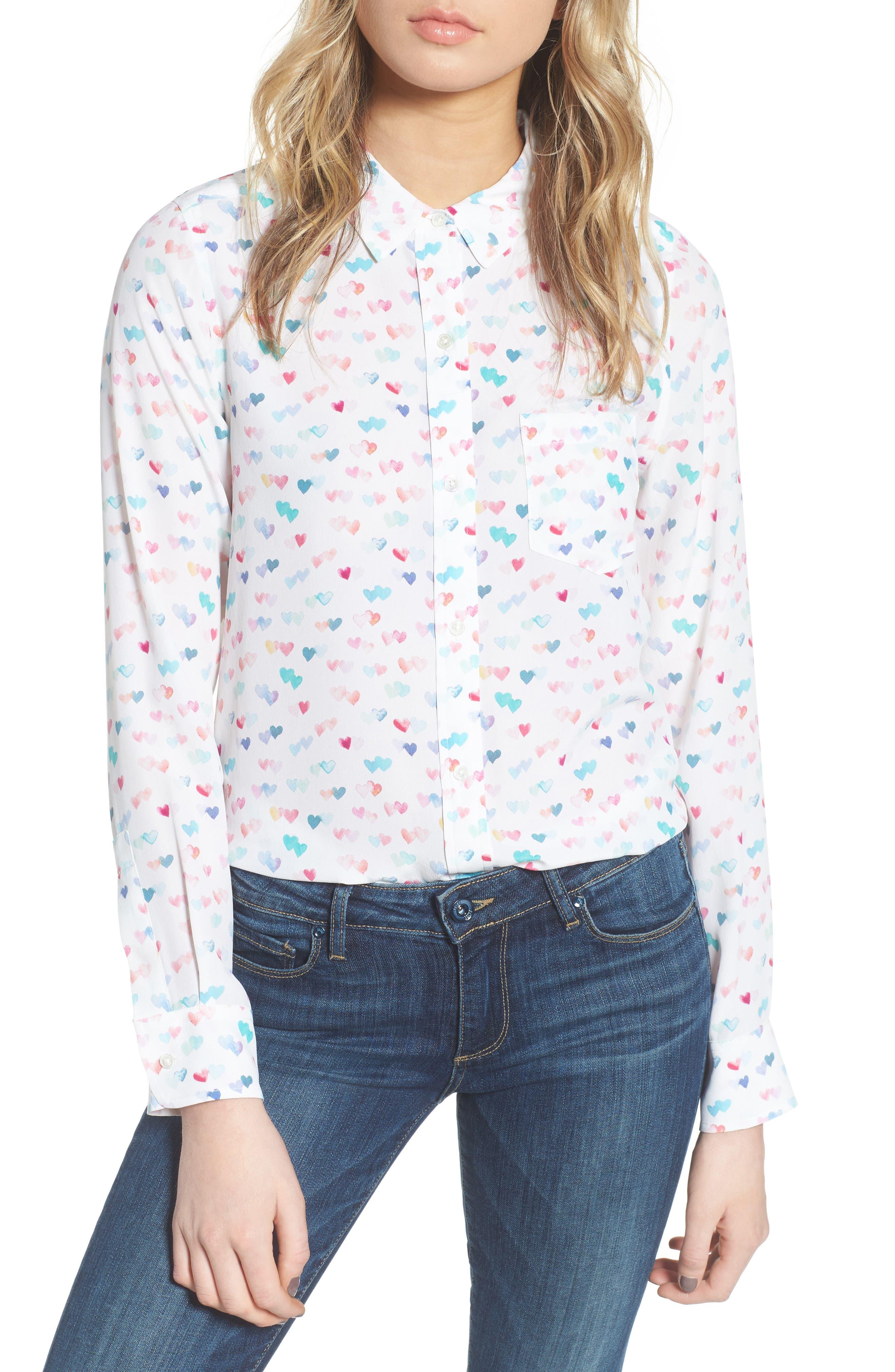 Kate Print Shirt,                             Main thumbnail 8, color,