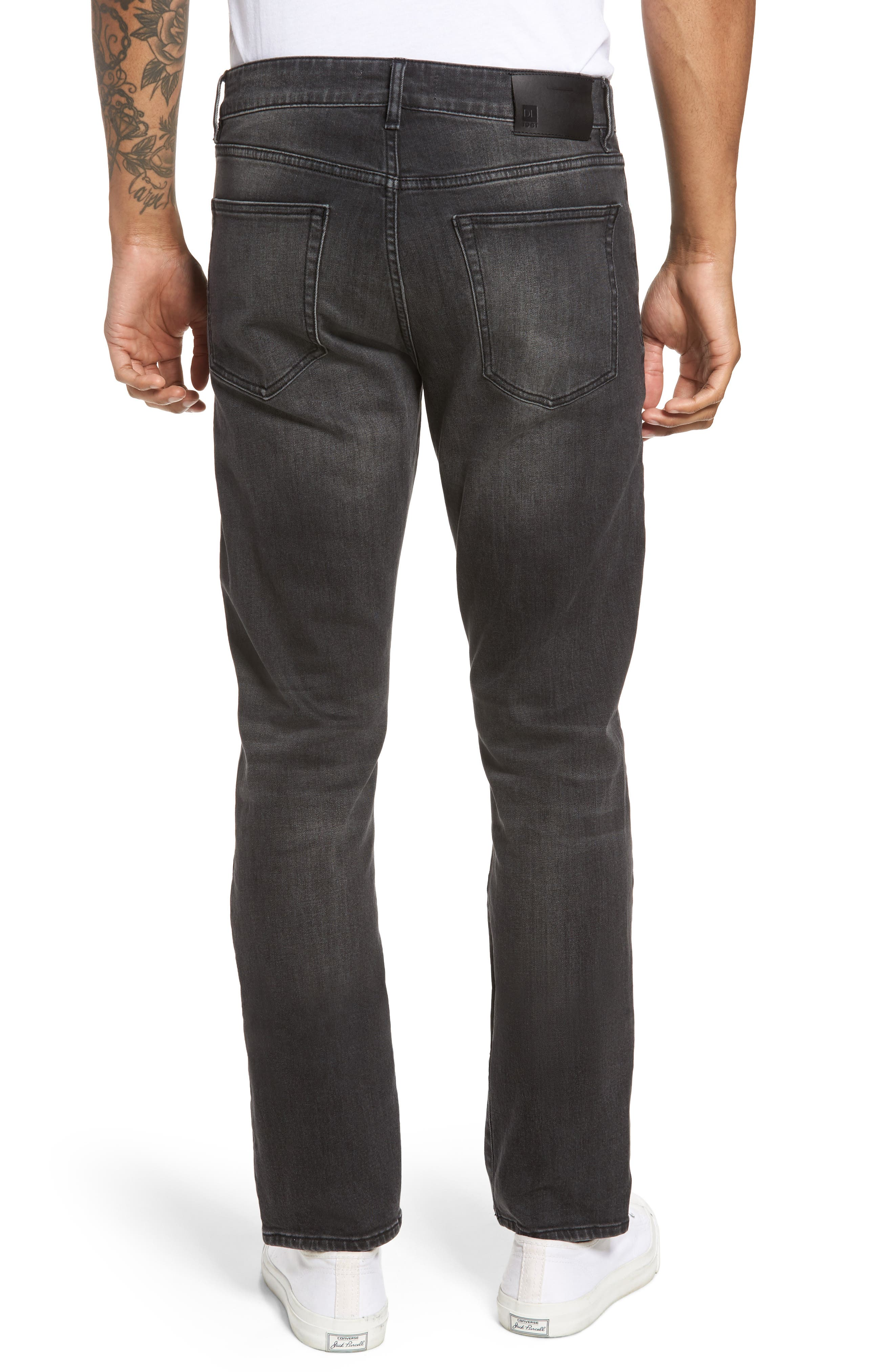 Russell Slim Straight Fit Jeans,                             Alternate thumbnail 2, color,                             020