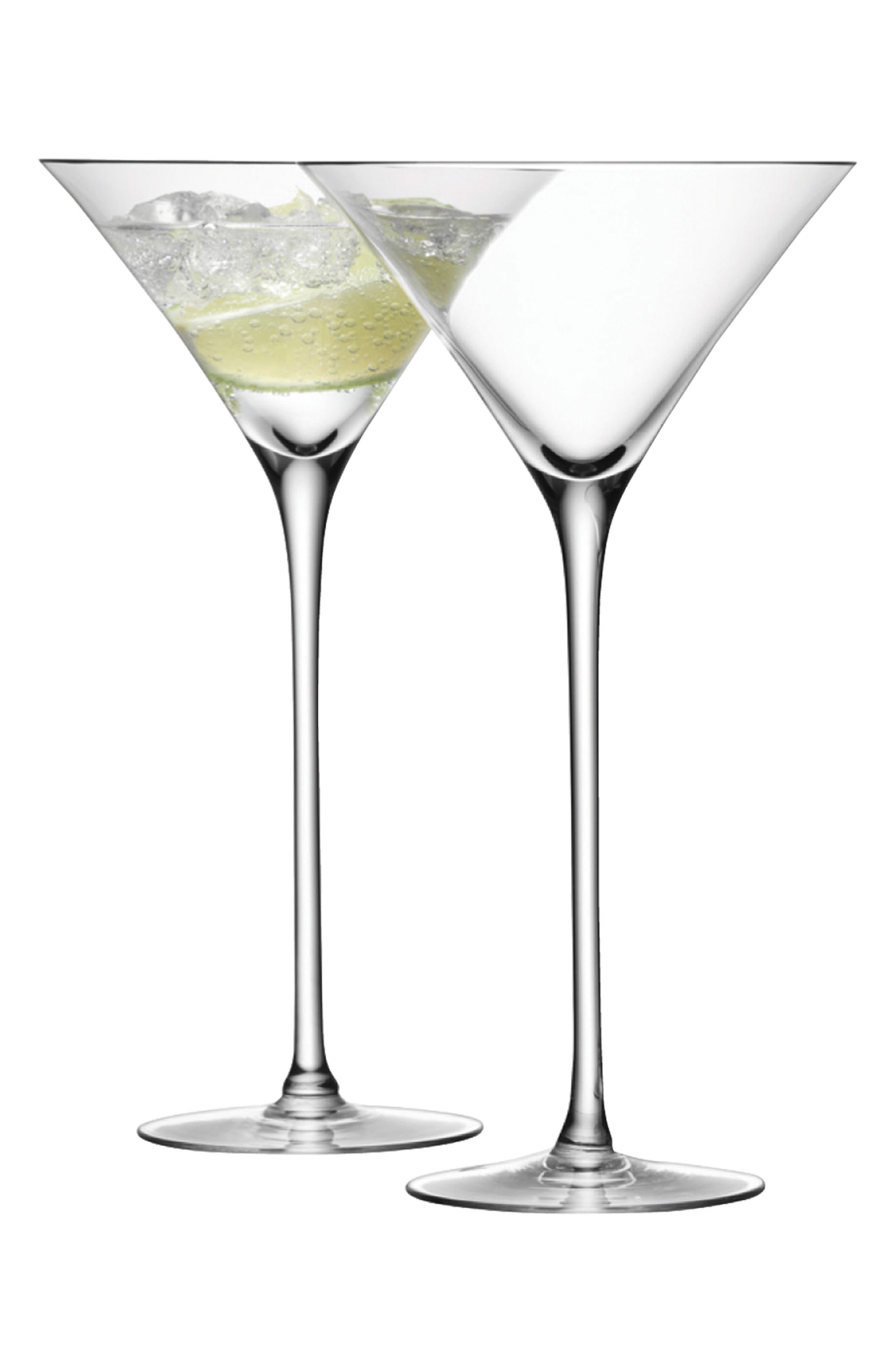 Set of 2 Bar Martini Glasses,                             Main thumbnail 1, color,                             CLEAR