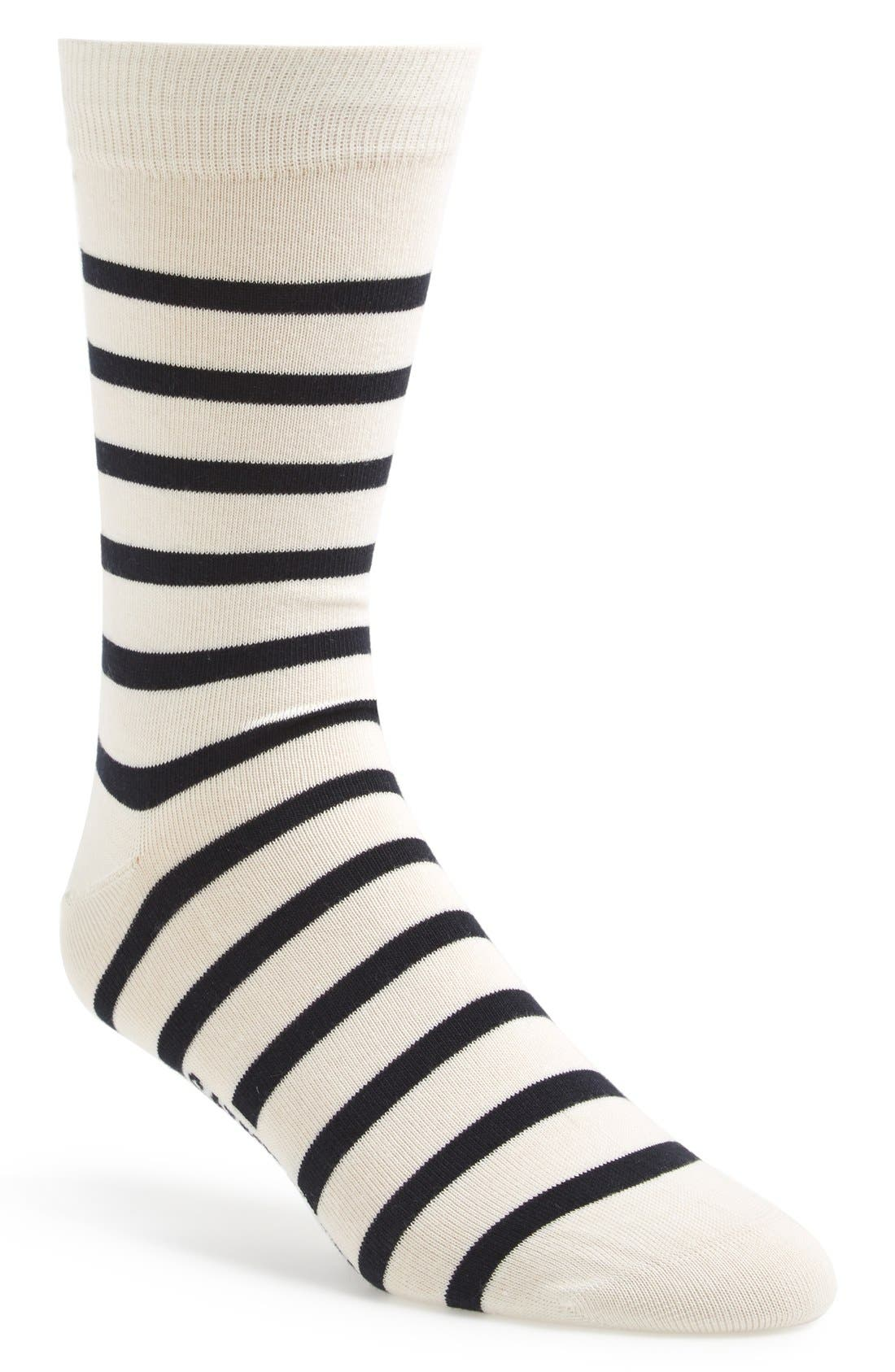 'Pieds Rayes A' Striped Socks,                             Main thumbnail 1, color,                             100