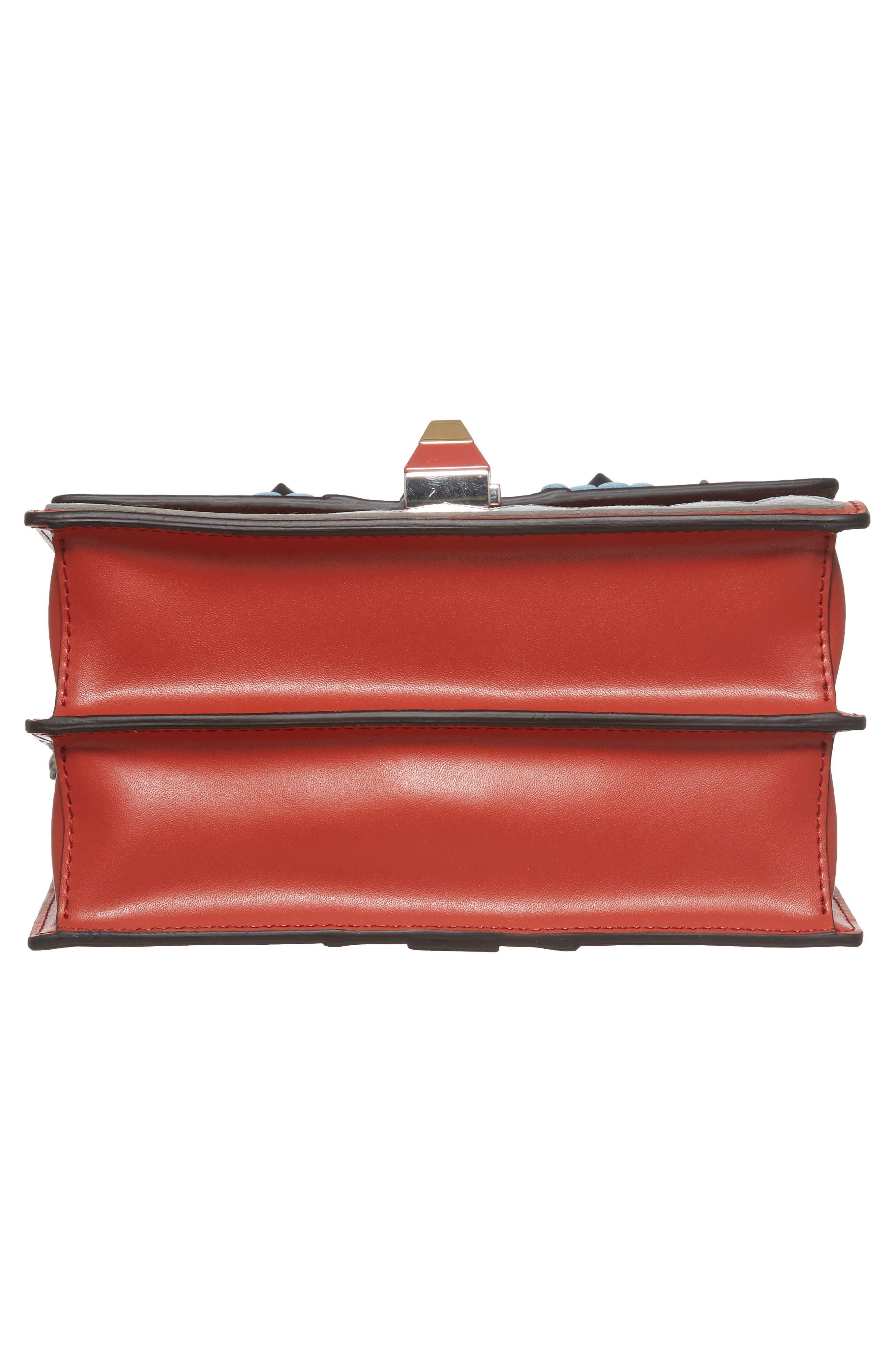 Mini Kan I Faces Leather Shoulder Bag,                             Alternate thumbnail 6, color,                             644