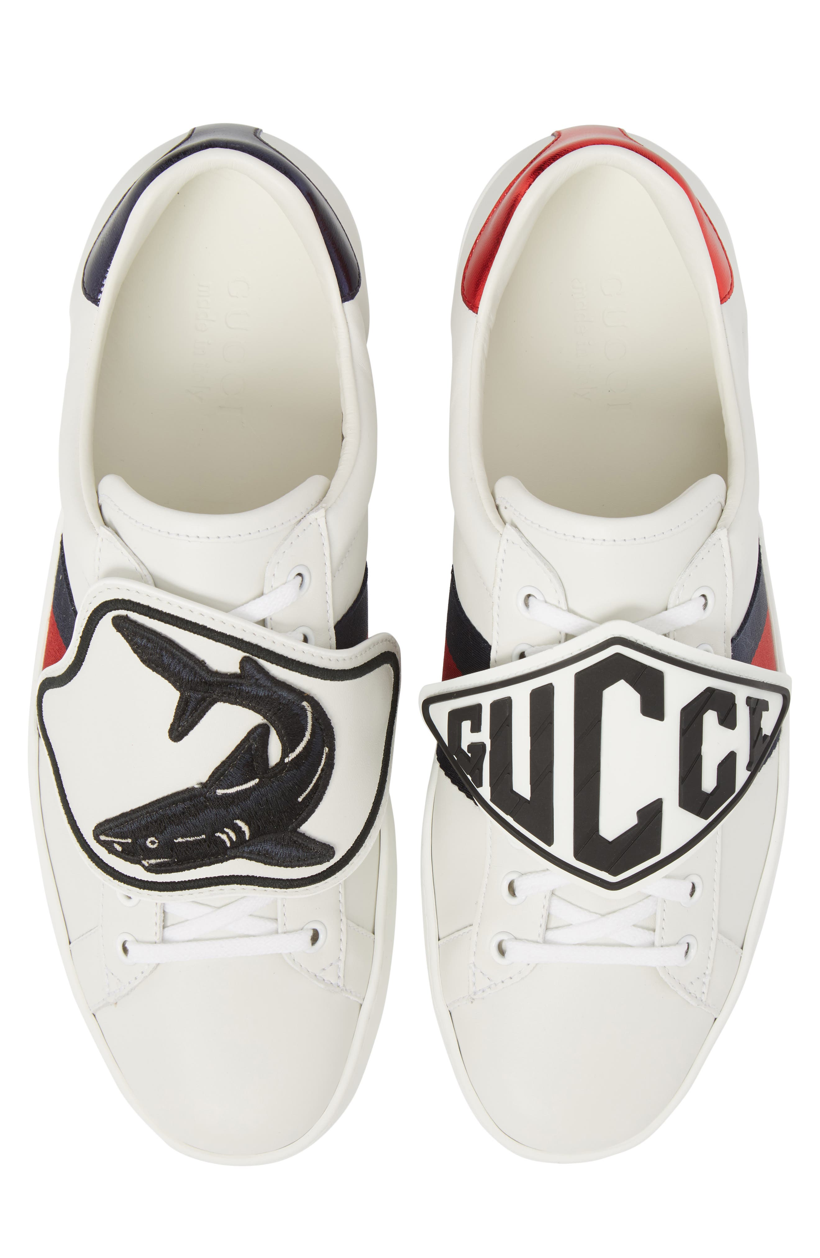 New Ace Patch Sneaker,                         Main,                         color, BIANCO/ WHITE