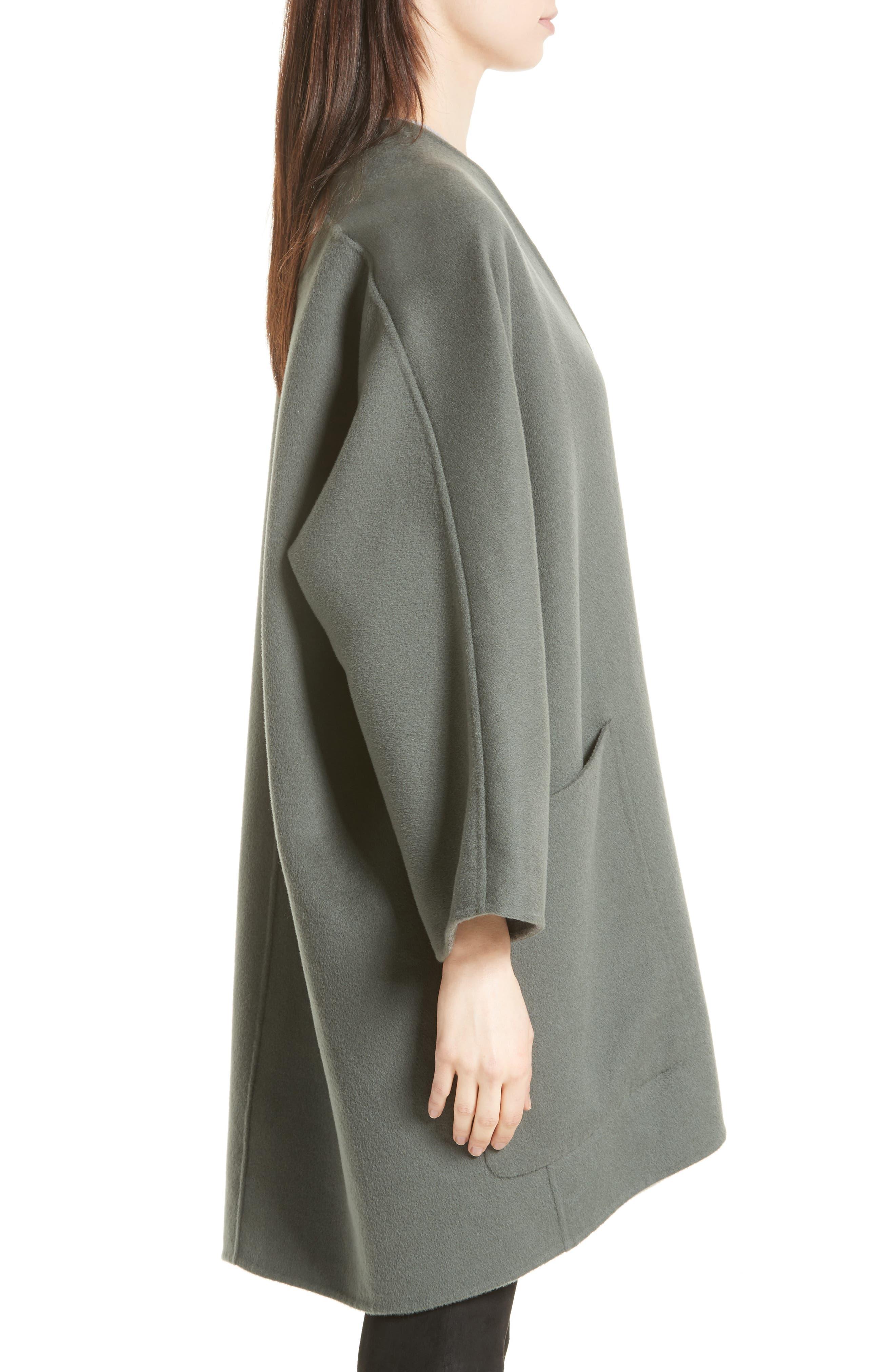 Reversible Wool & Cashmere Clutch Coat,                             Alternate thumbnail 8, color,