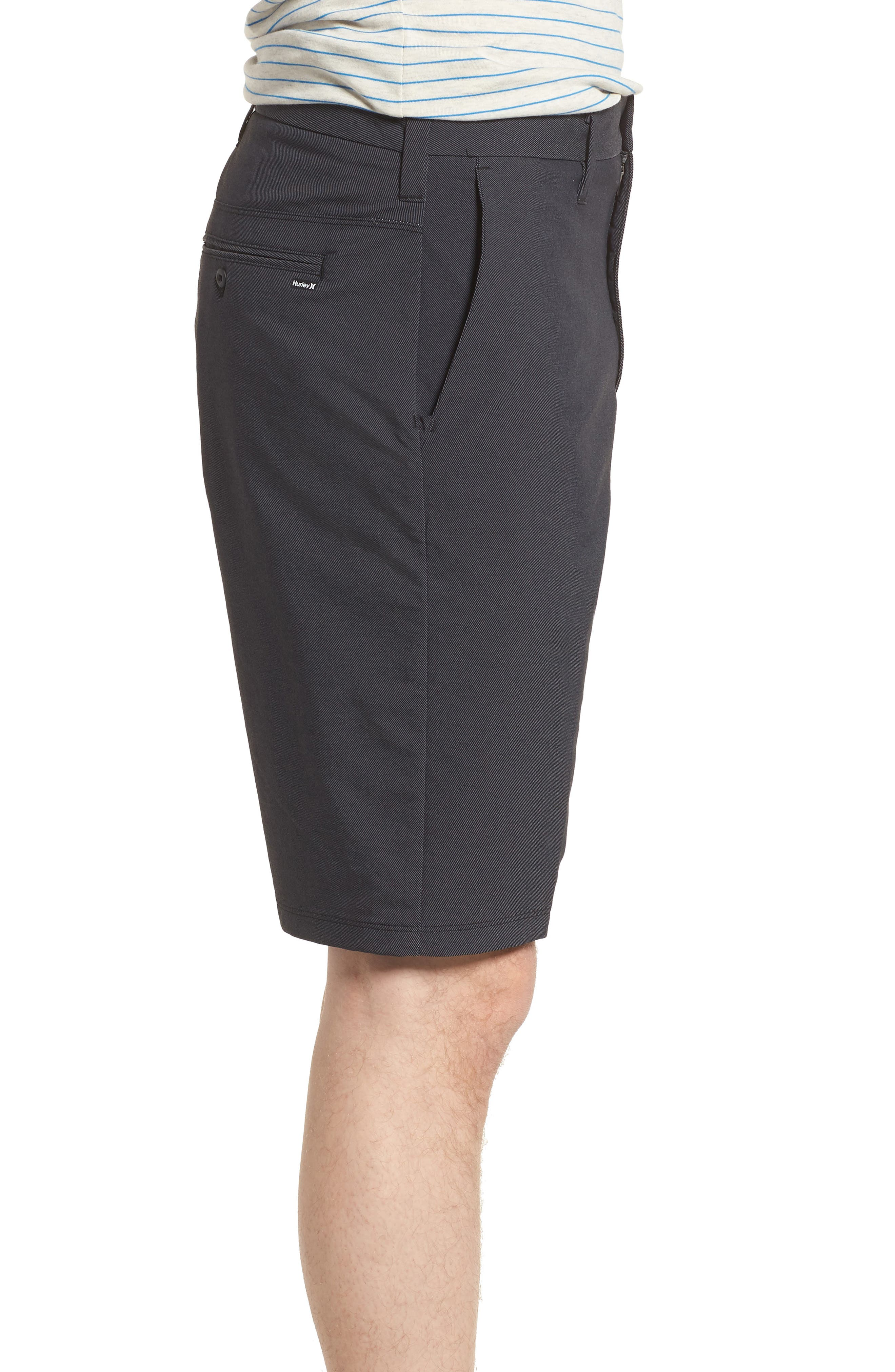 'Dry Out' Dri-FIT<sup>™</sup> Chino Shorts,                             Alternate thumbnail 4, color,                             NEW BLACK