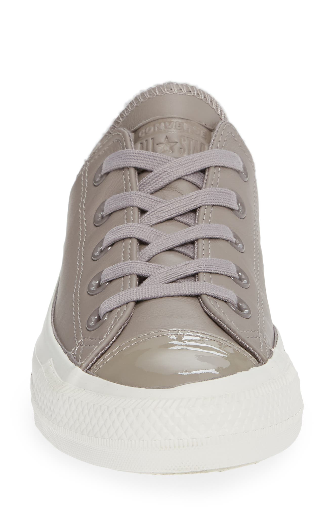 CONVERSE,                             All Star<sup>®</sup> Leather Patent Low Top Sneaker,                             Alternate thumbnail 4, color,                             020