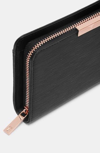 25e42bdac Ted Baker London Yasmine Plissé Leather Matinée Wallet