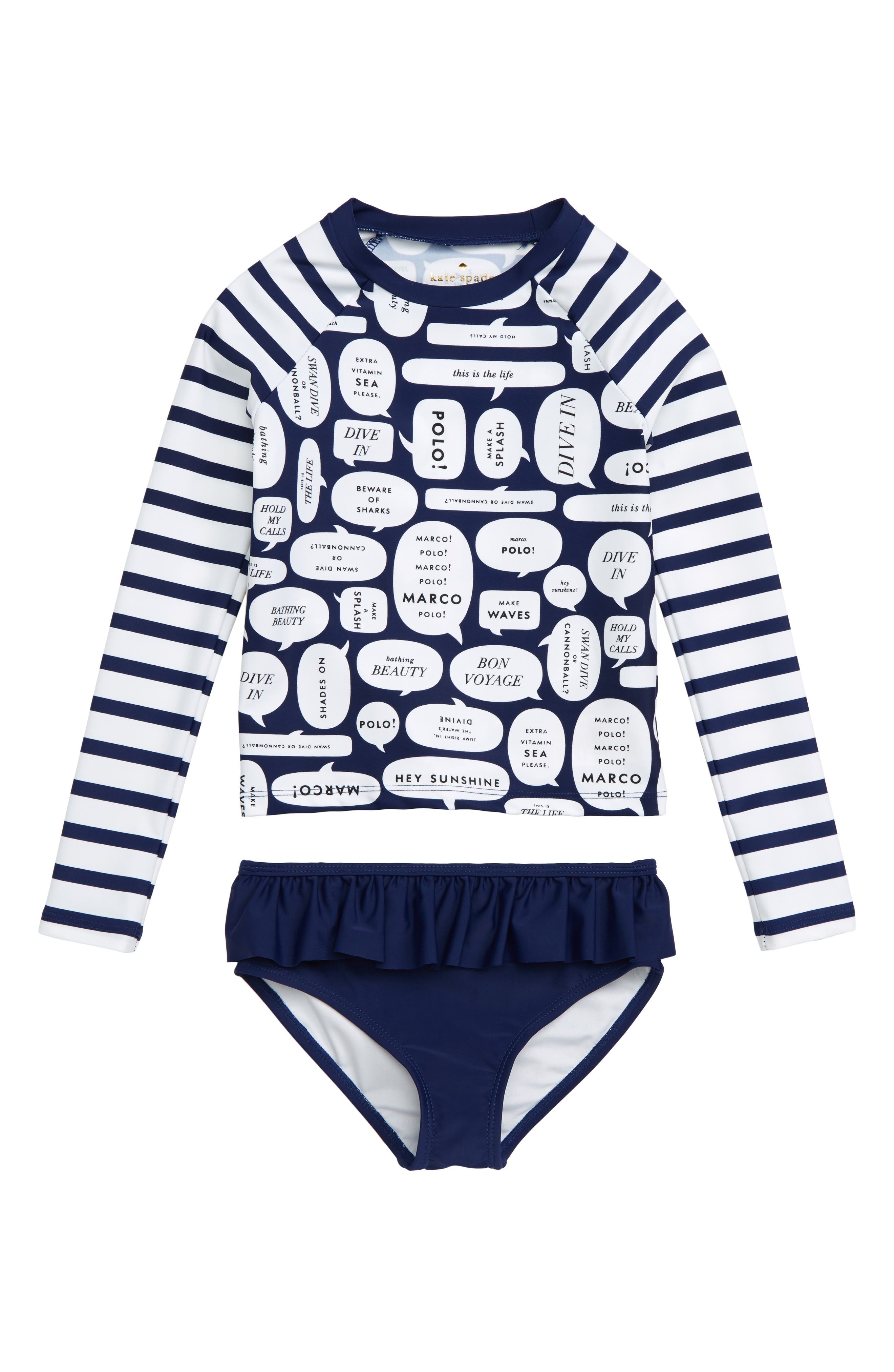 speech bubble 2-piece rashguard swimsuit, Main, color, 400
