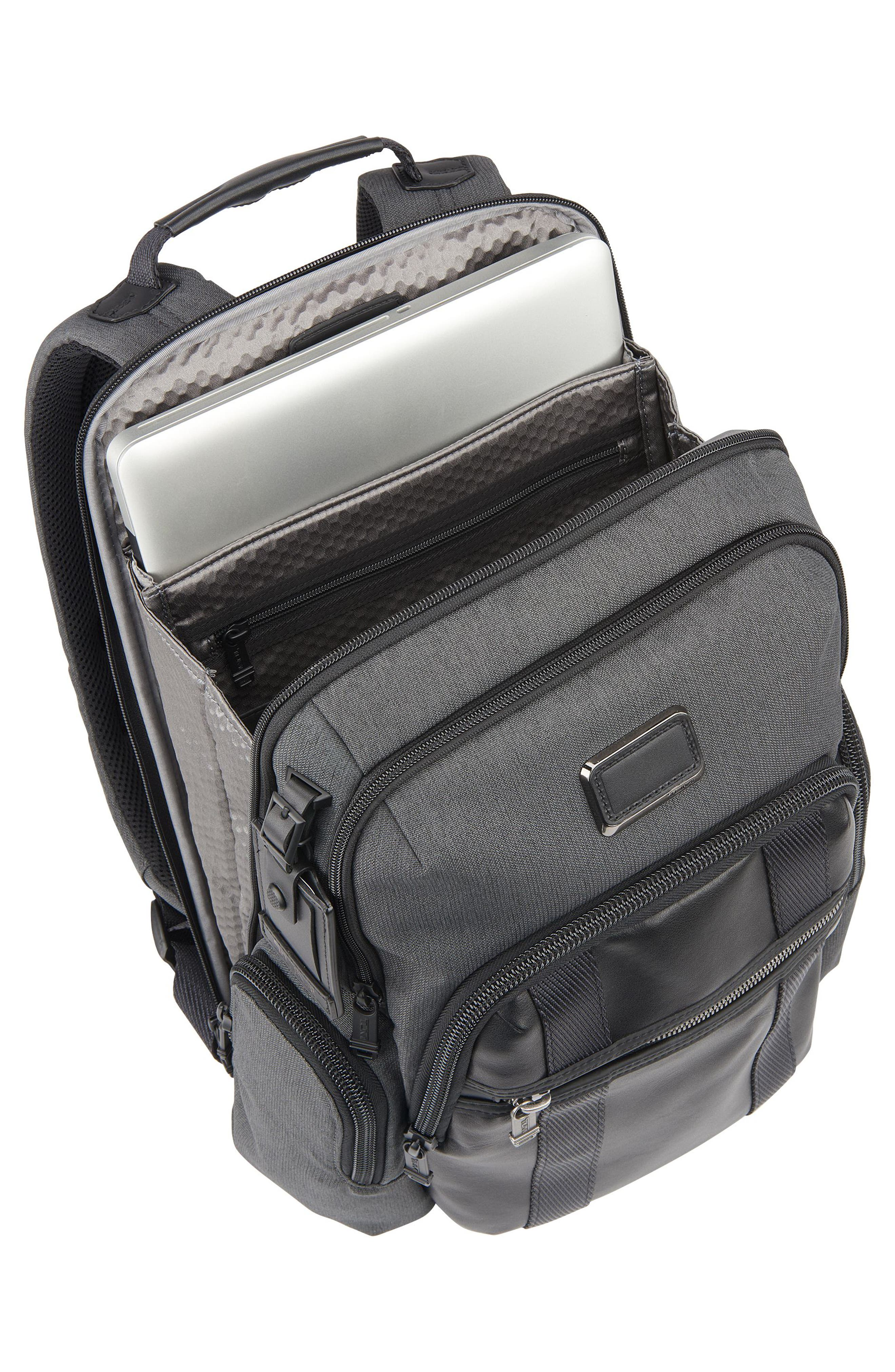 Alpha Bravo - Nellis Backpack,                             Alternate thumbnail 3, color,                             ANTHRACITE