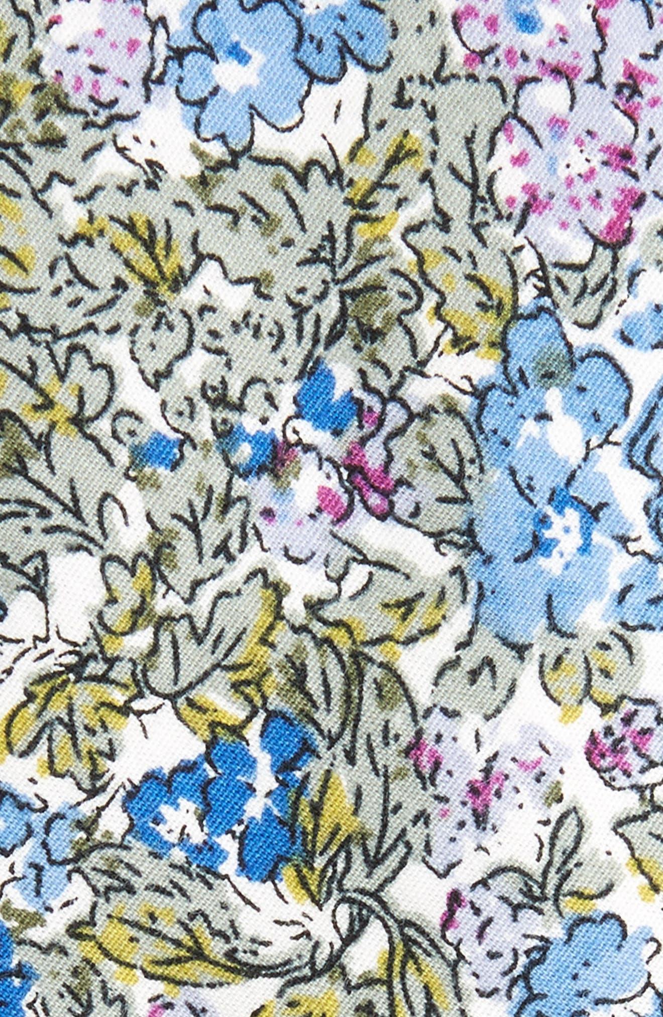 Raglan Floral Cotton Skinny Tie,                             Alternate thumbnail 2, color,                             400