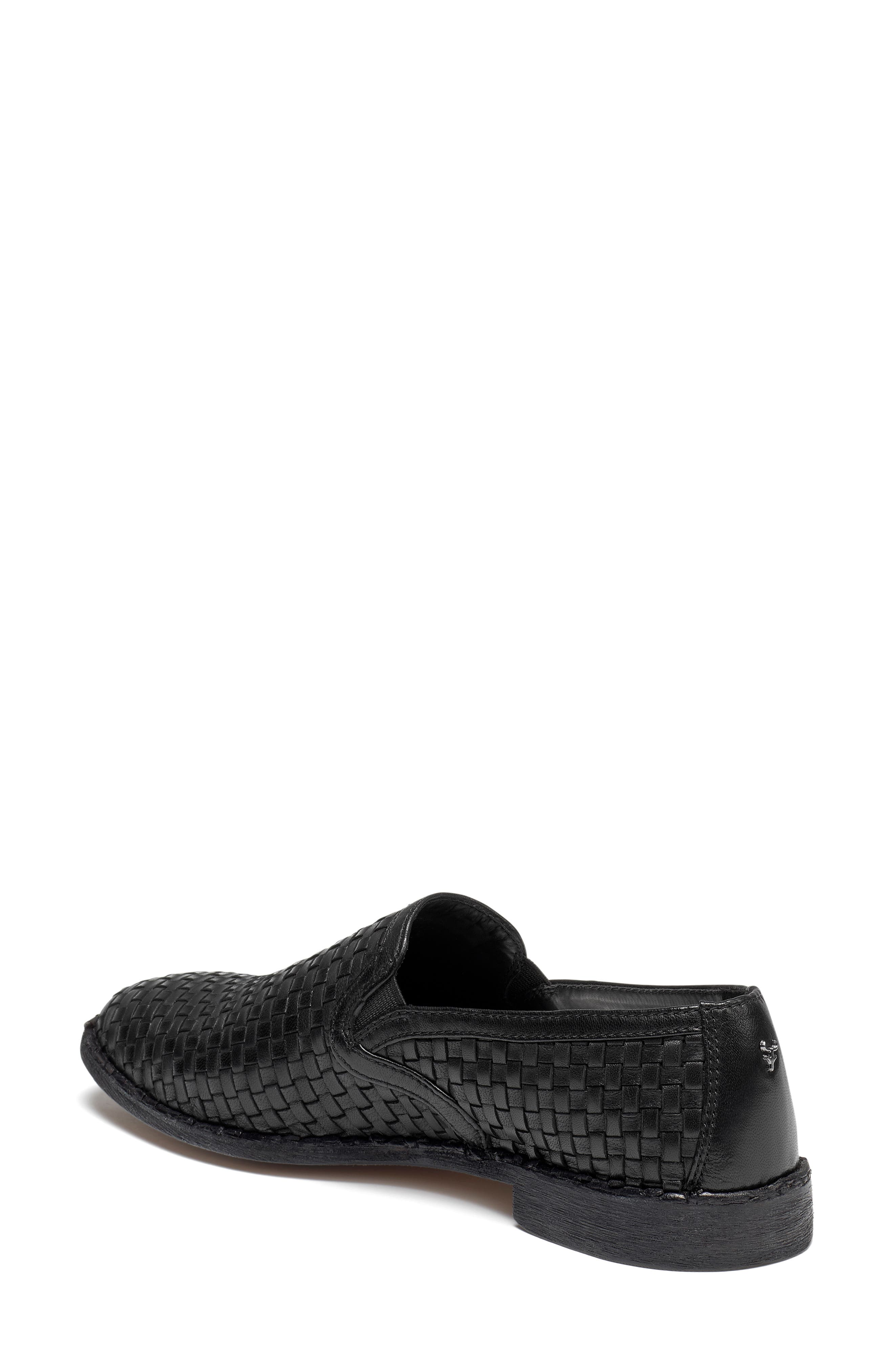 Amanda Woven Loafer,                             Alternate thumbnail 2, color,                             BLACK SUEDE