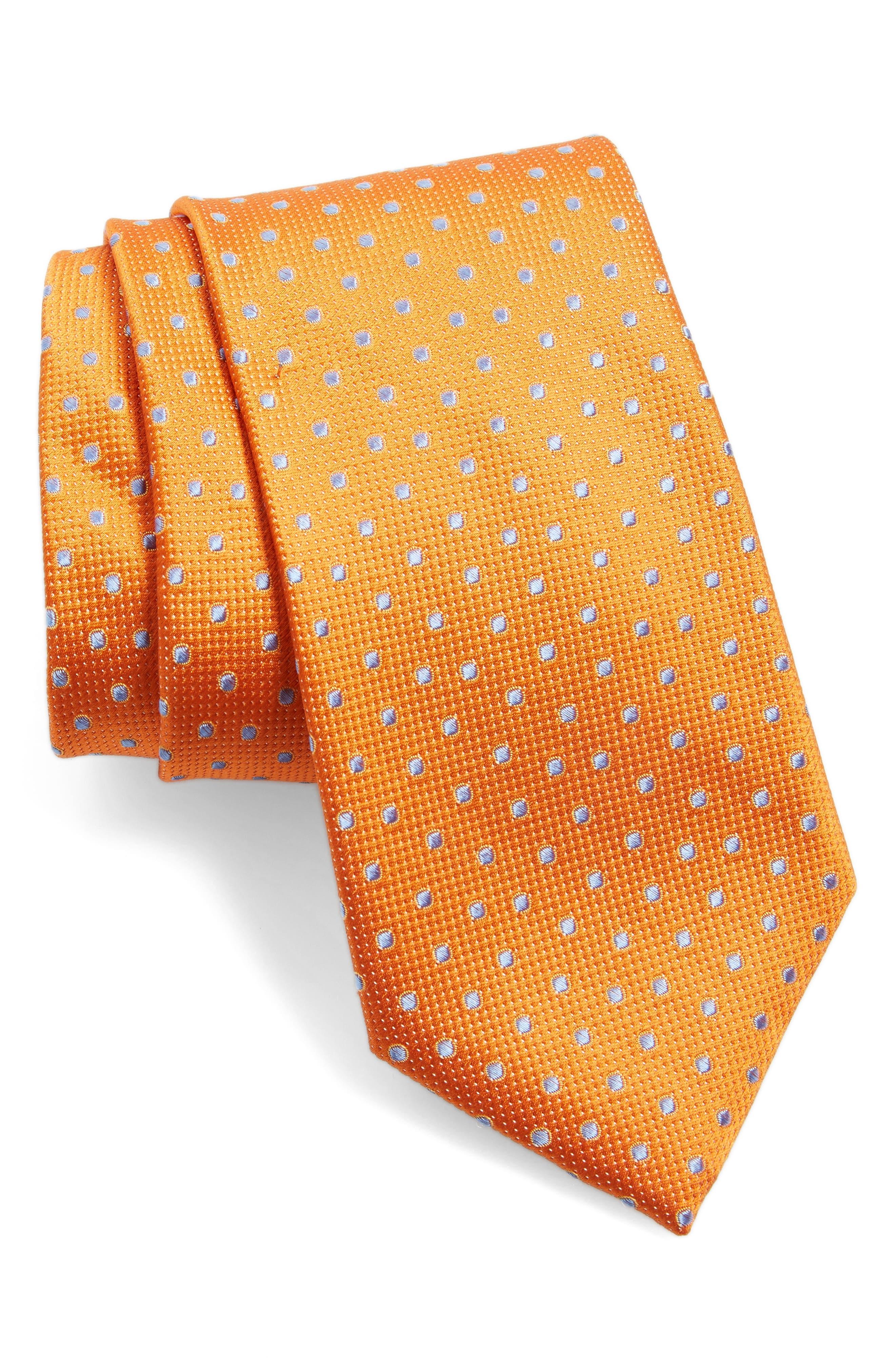 Double Dot Silk Tie,                             Main thumbnail 8, color,