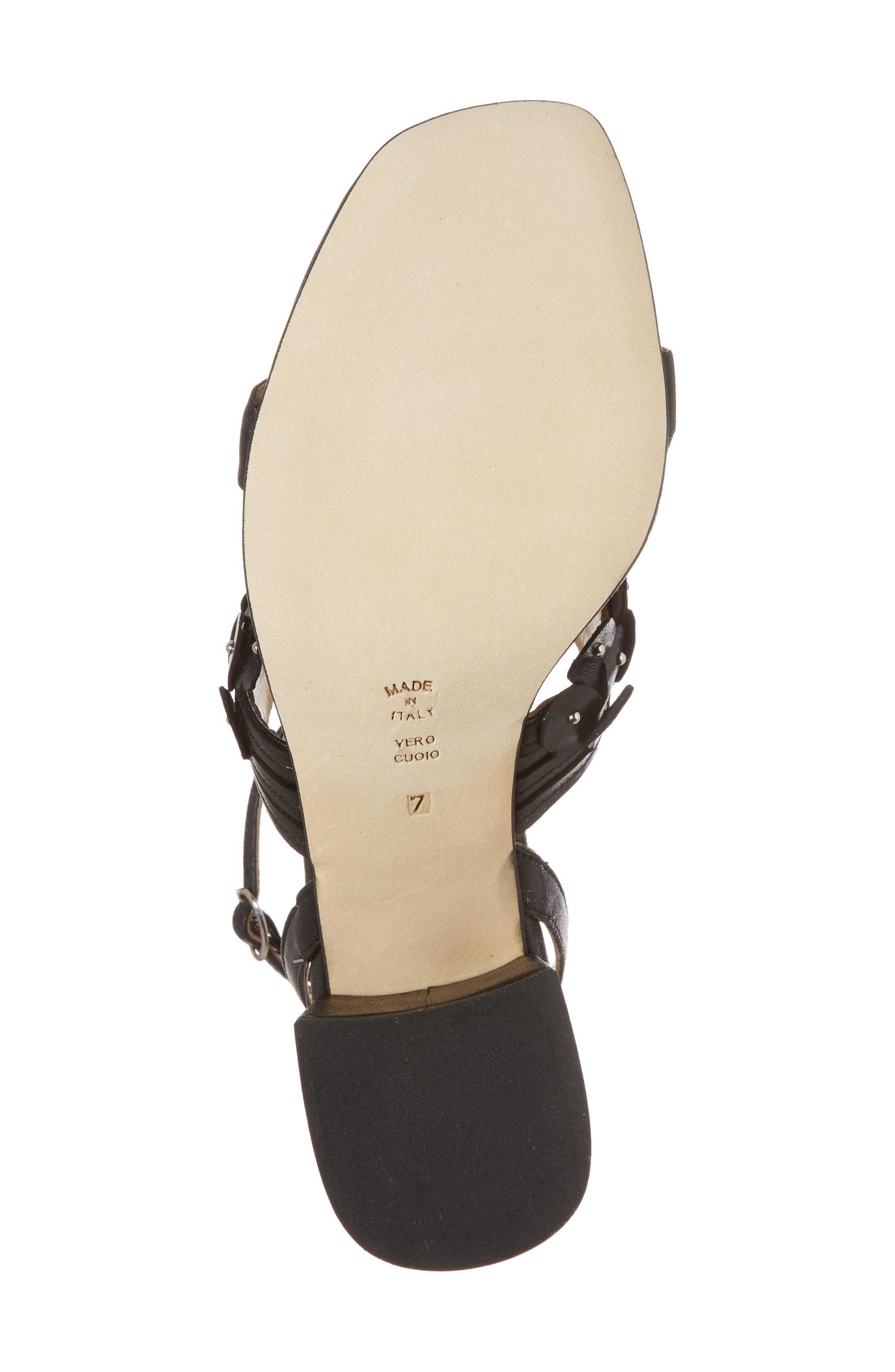 Butter Finley Studded Ankle Strap Sandal,                             Alternate thumbnail 6, color,                             001