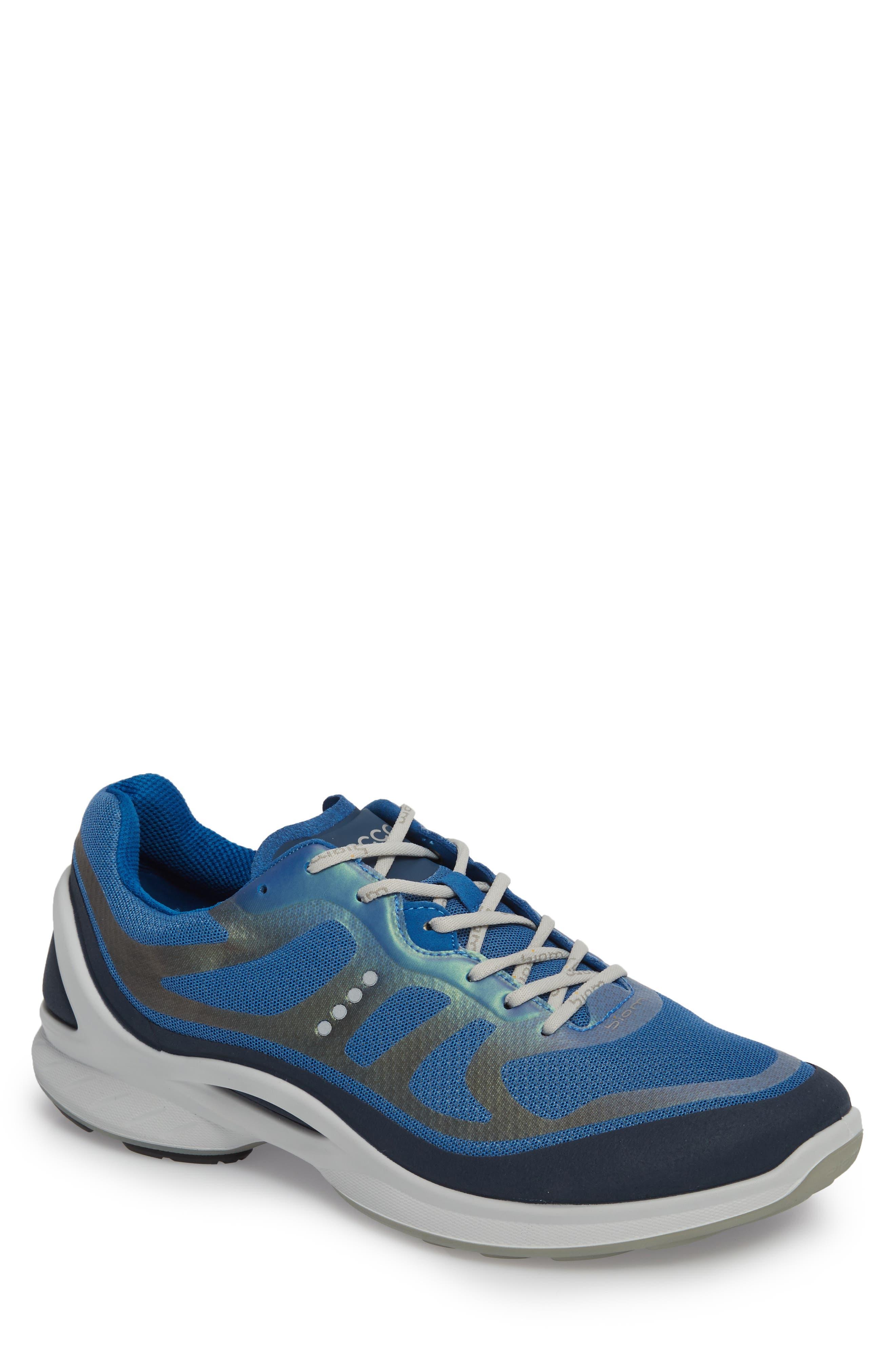 BIOM Fjuel Tie Sneaker,                             Main thumbnail 1, color,                             MARINE/ BLUE TEXTILE