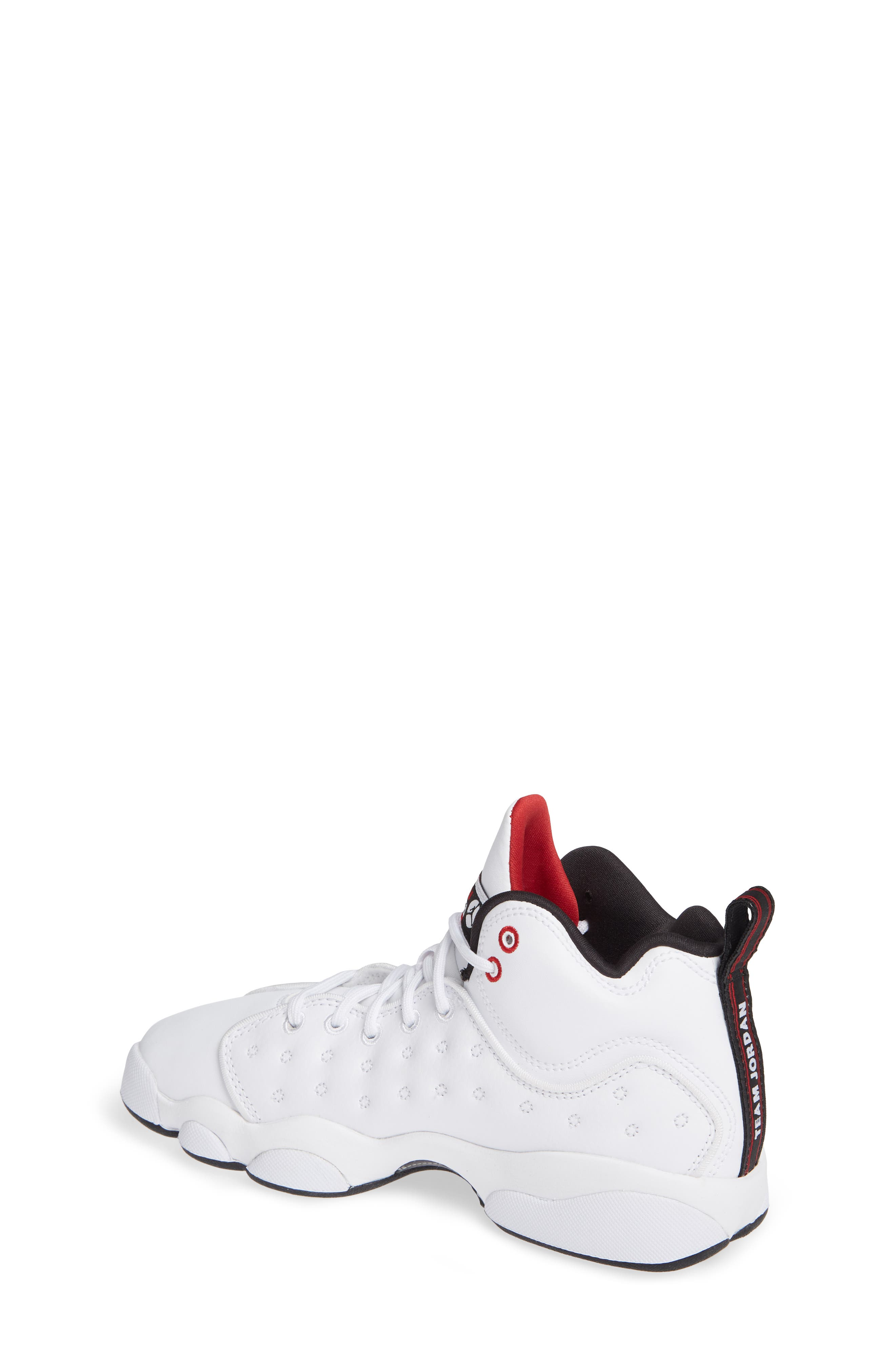 Jordan Jumpman Team II Sneaker,                             Alternate thumbnail 2, color,                             WHITE/ BLACK/ GYM RED