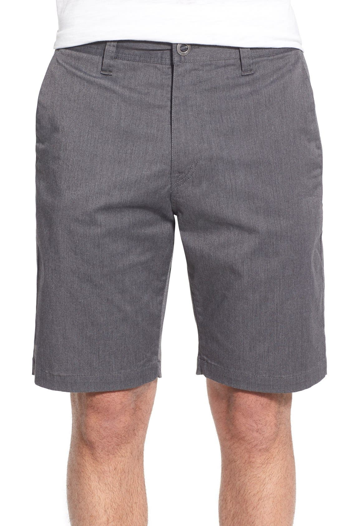 'Lightweight' Shorts,                             Main thumbnail 1, color,                             CHARCOAL HEATHER