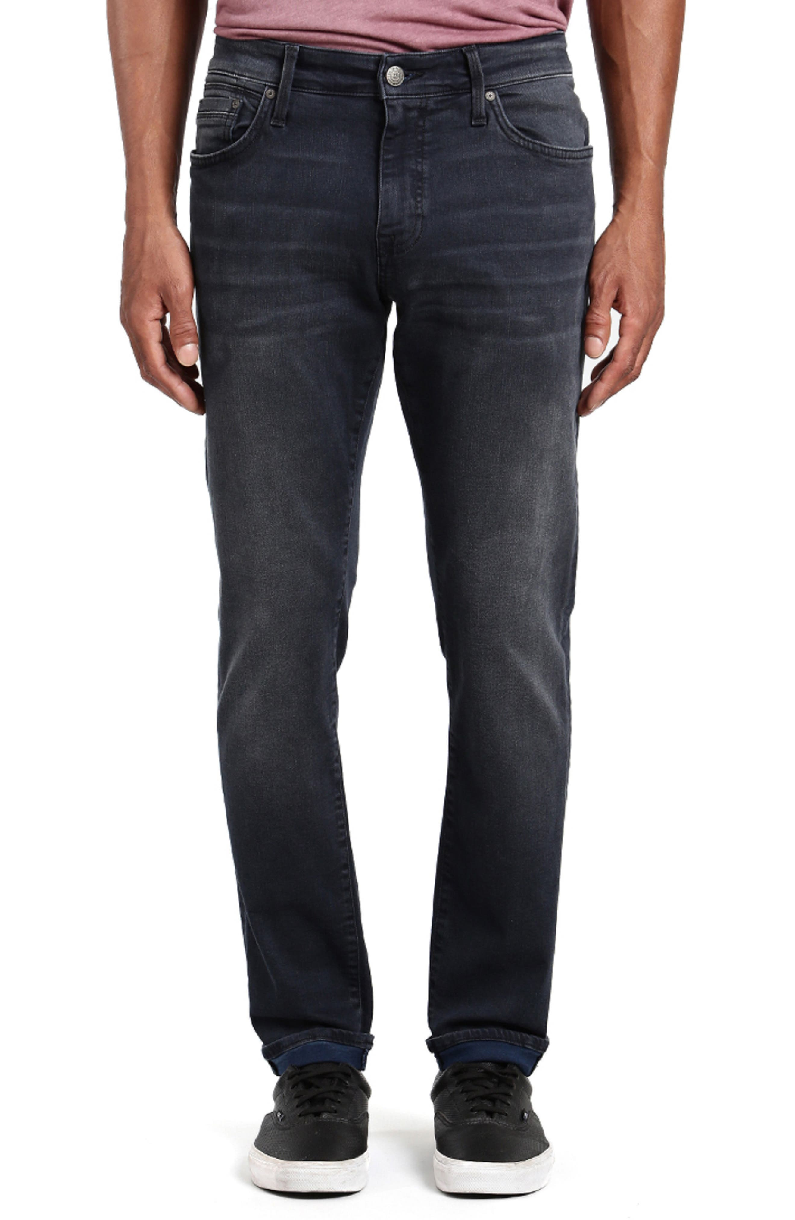 MAVI JEANS James Skinny Fit Jeans in Shaded Blue Williamsburg