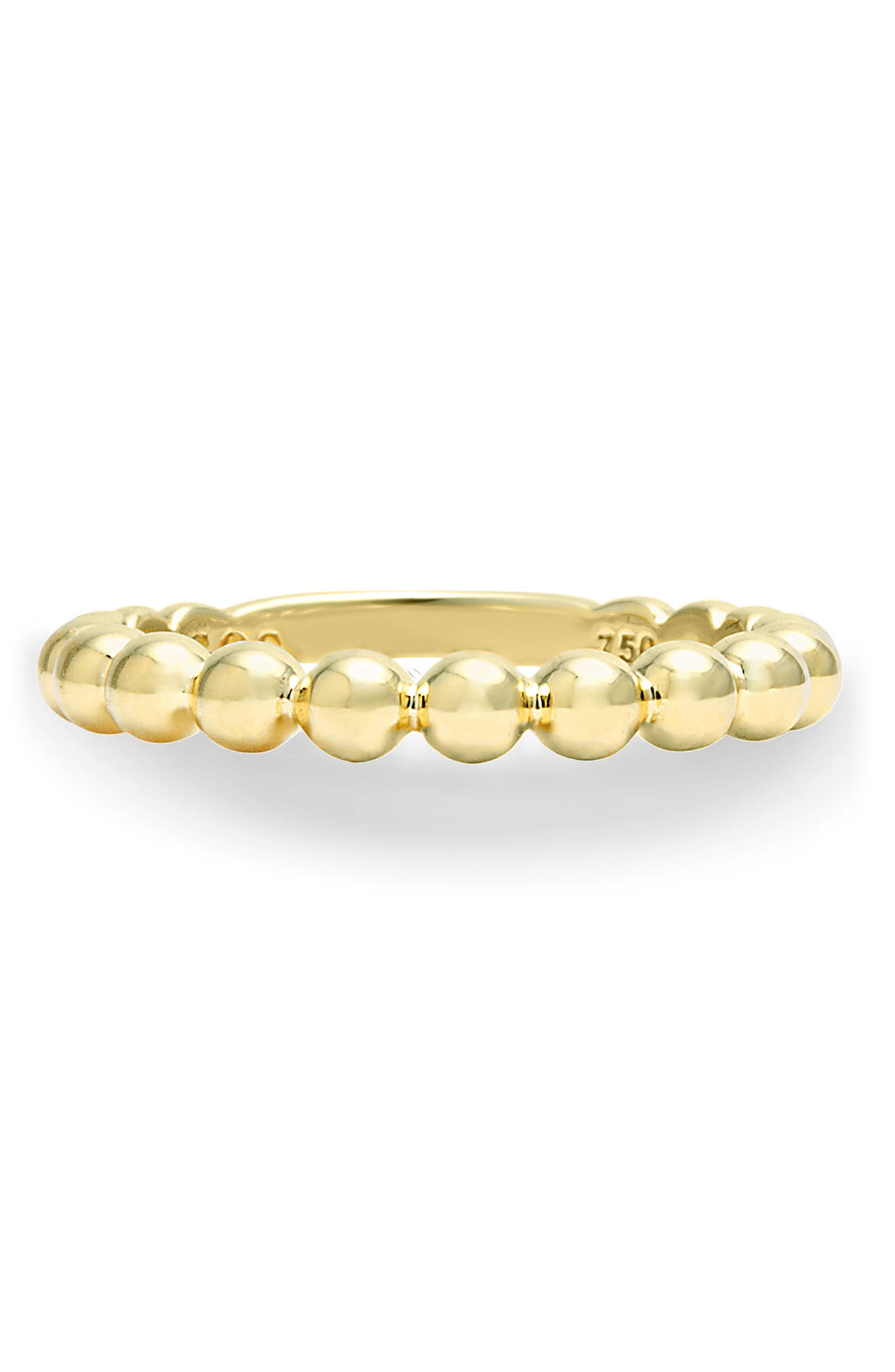Caviar Stack Ring,                             Alternate thumbnail 4, color,                             GOLD