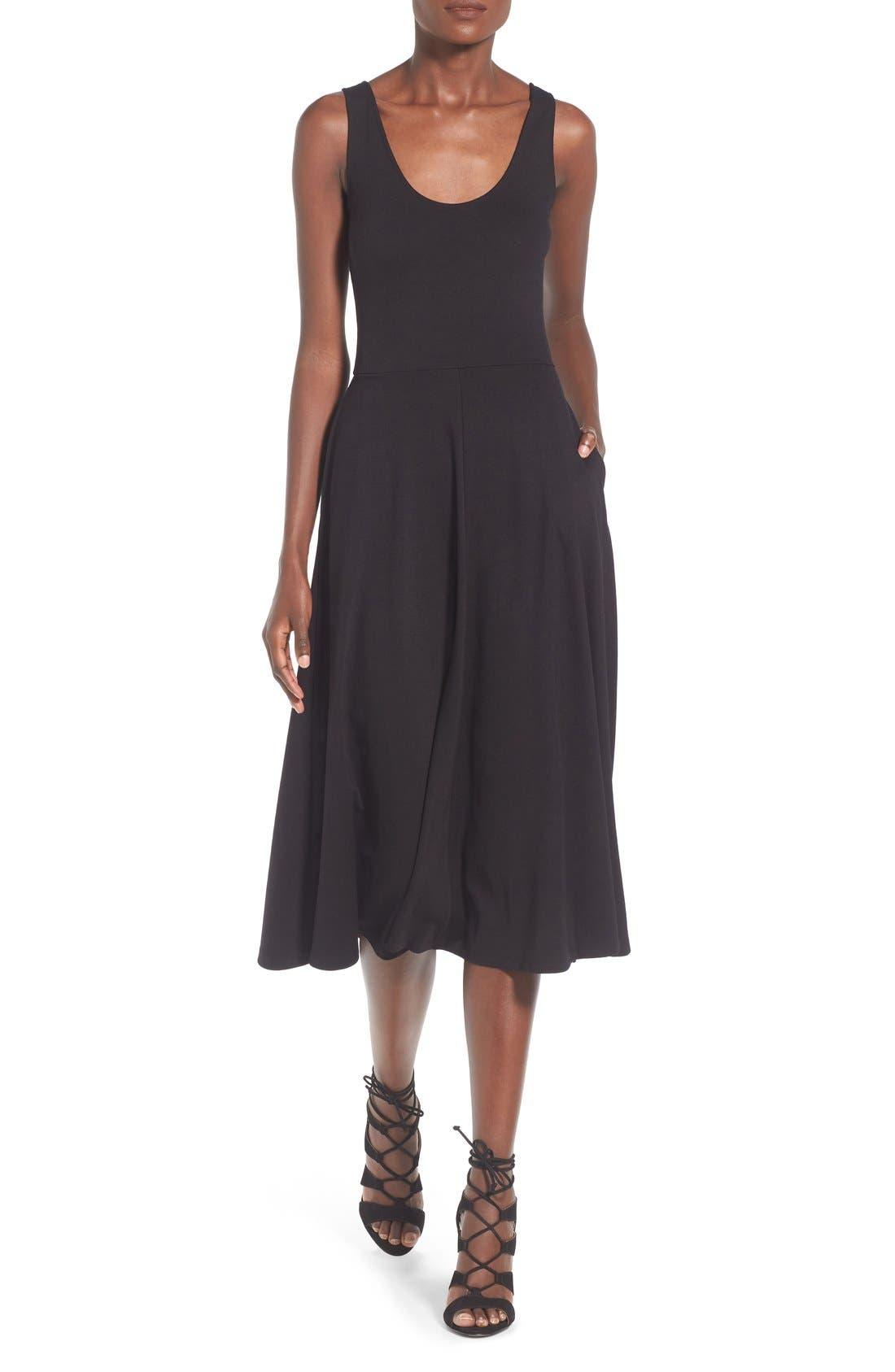 Stretch Knit Midi Dress,                             Main thumbnail 5, color,