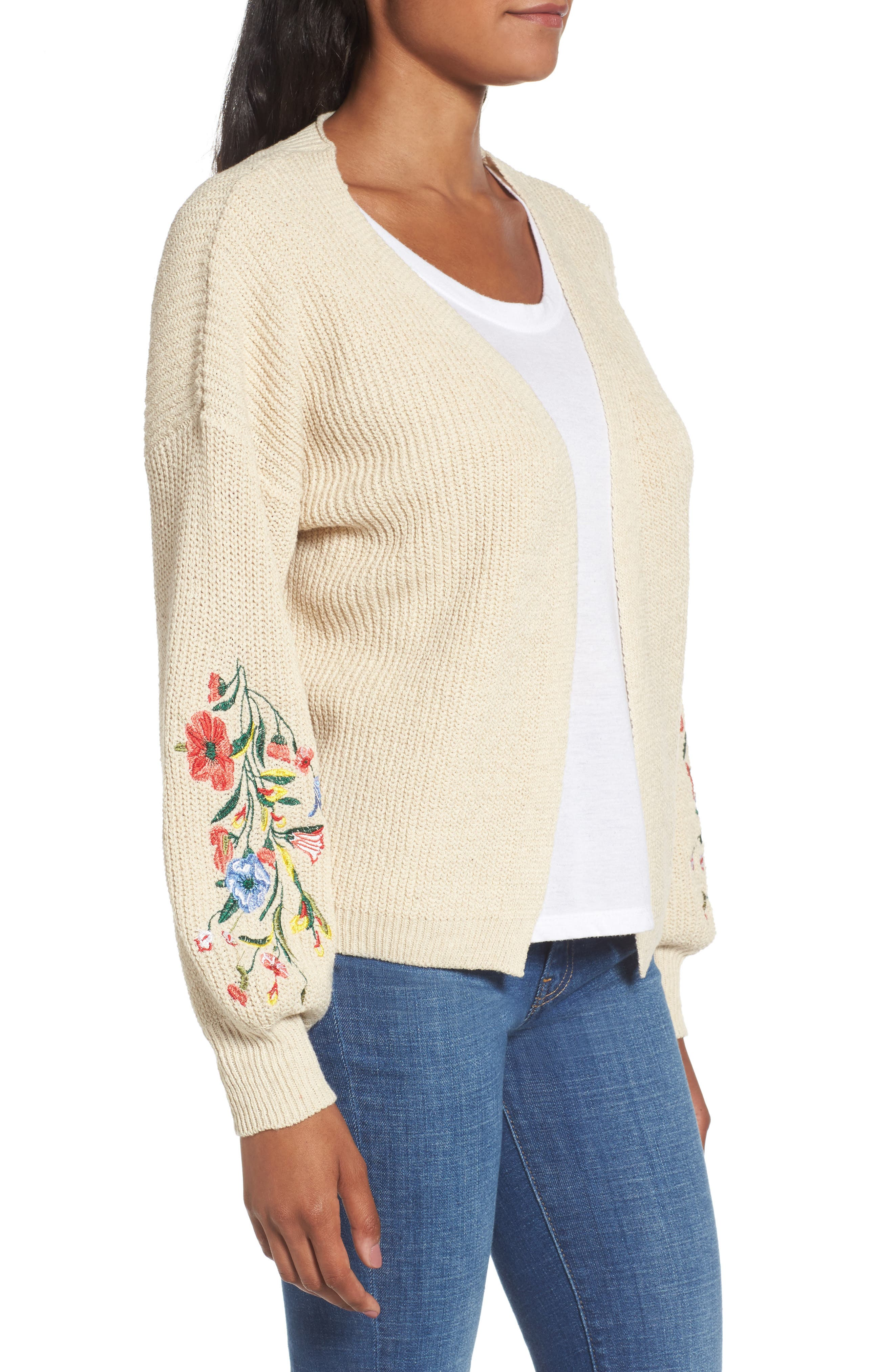 Embroidered Cardigan,                             Alternate thumbnail 3, color,                             250