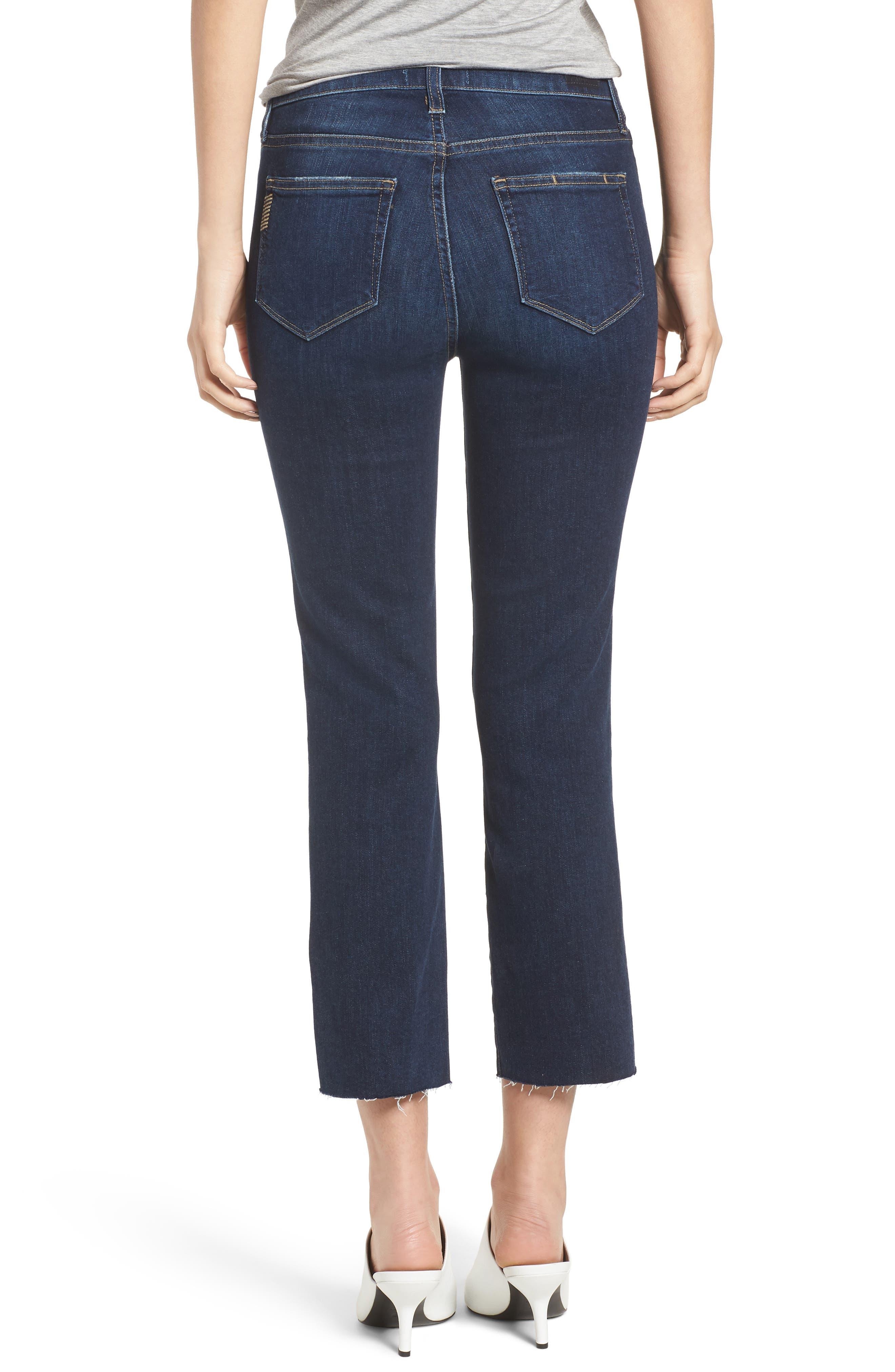 Hoxton Transcend Vintage High Waist Crop Straight Leg Jeans,                             Alternate thumbnail 2, color,                             400