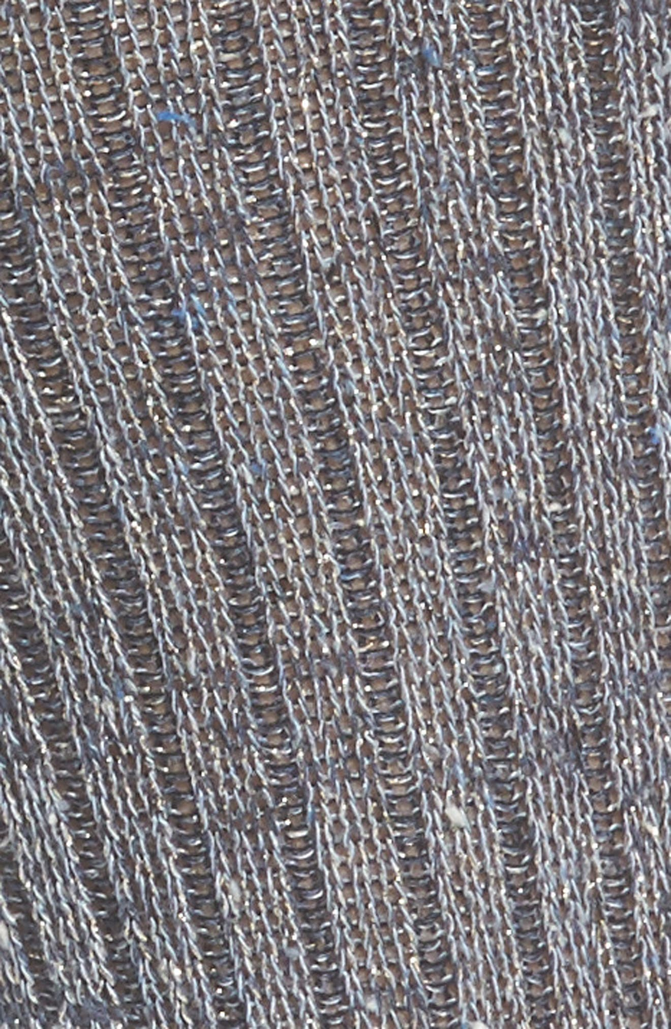 Metallic Tweed Space Dye Rib Crew Socks,                             Alternate thumbnail 2, color,                             400