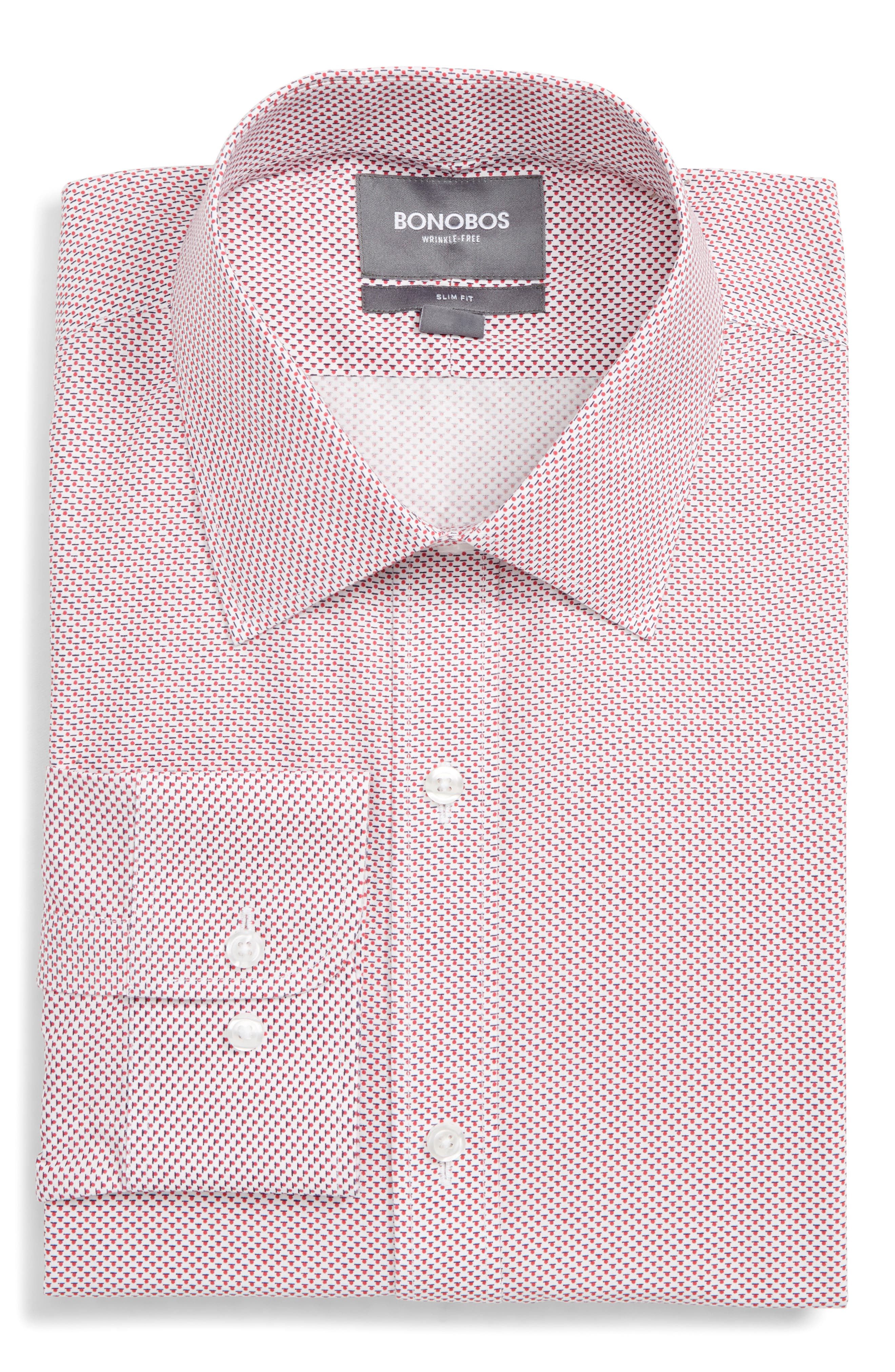 Bonobos Daily Grind Slim Fit Print Dress Shirt
