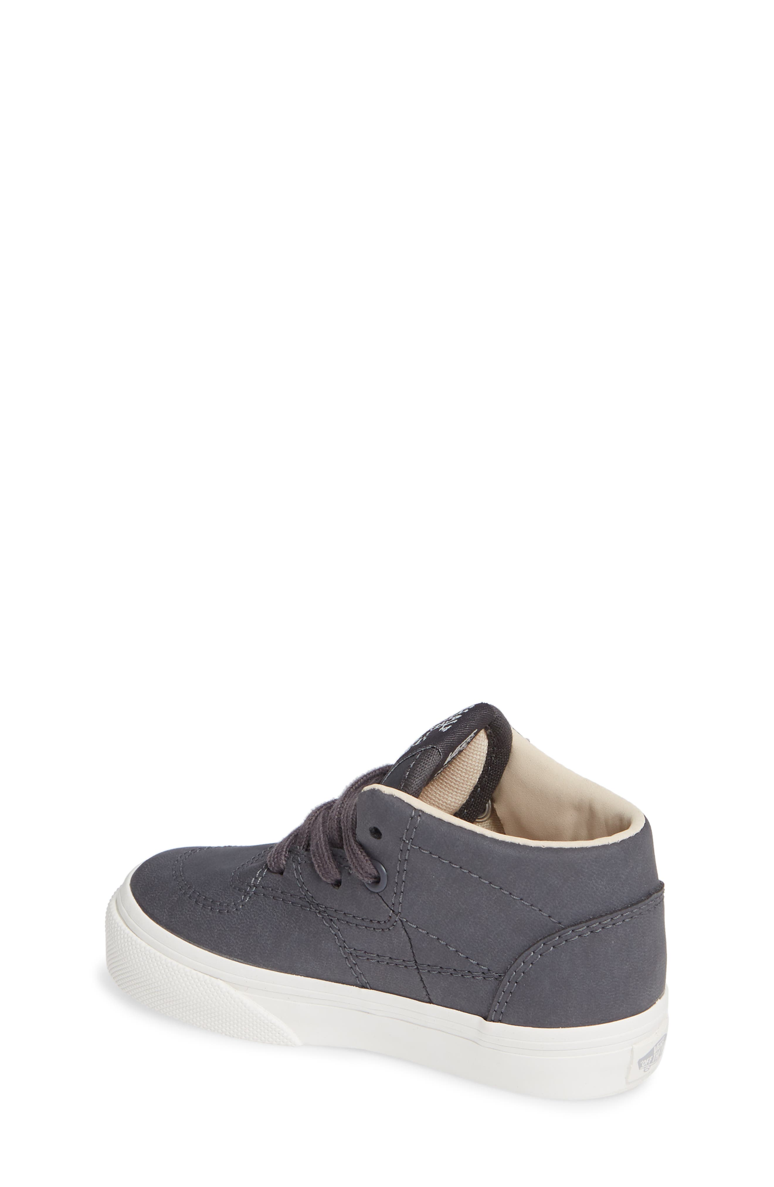 Half Cab Sneaker,                             Alternate thumbnail 2, color,                             VANSBUCK ASPHALT/ BLANC