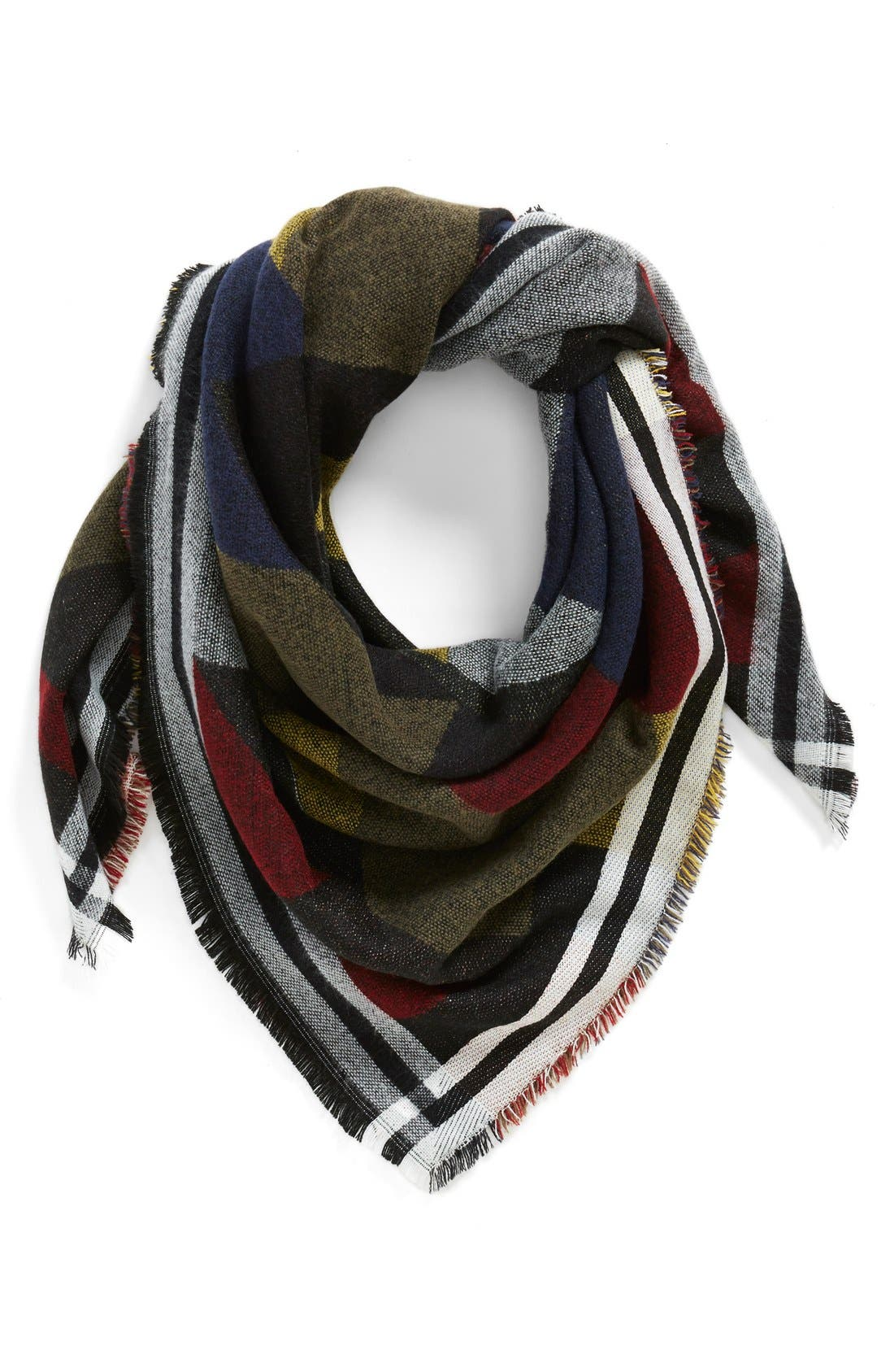 Colorblock Blanket Scarf, Main, color, 410