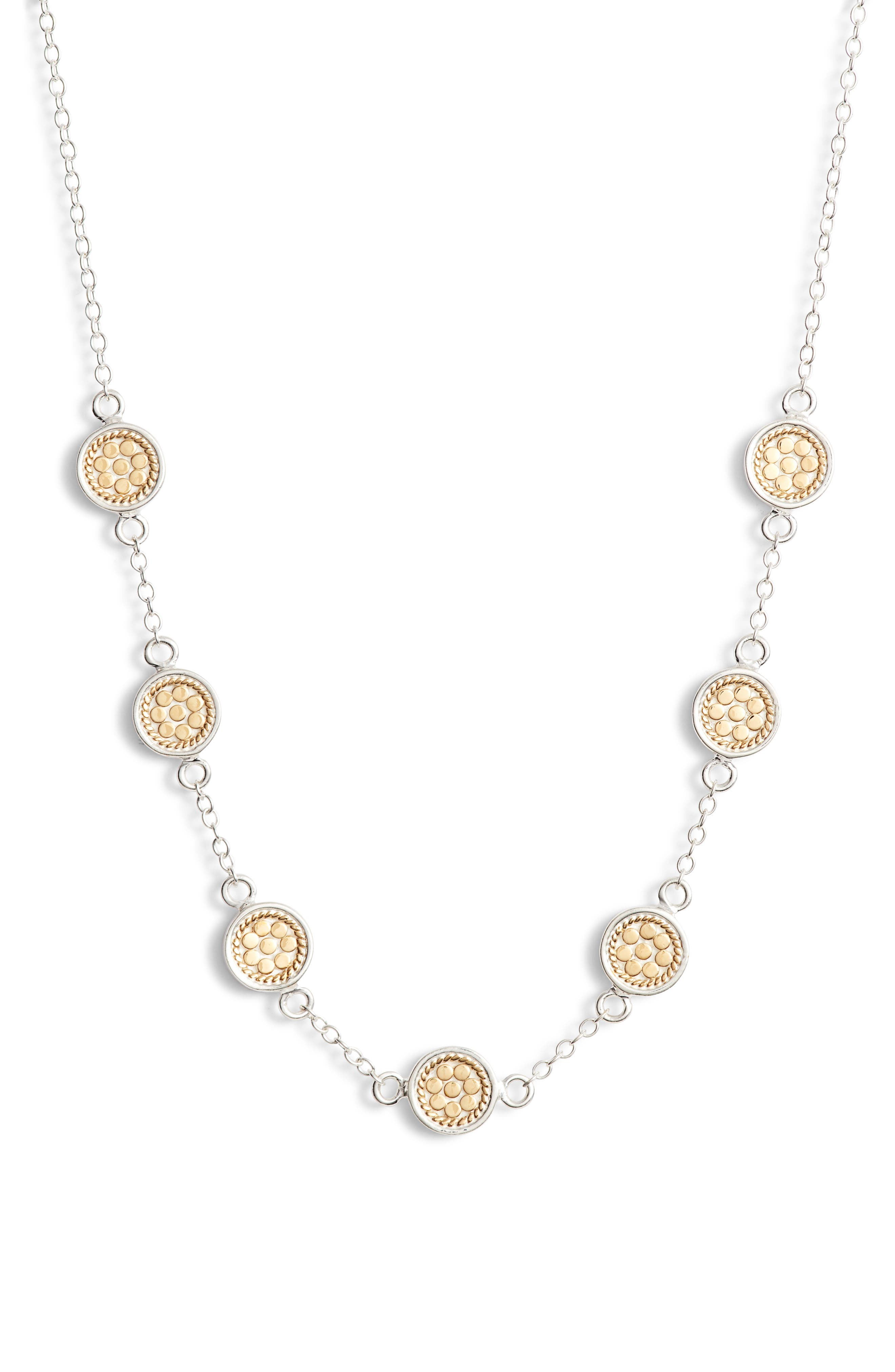 ANNA BECK Station Necklace in Gold/ Silver