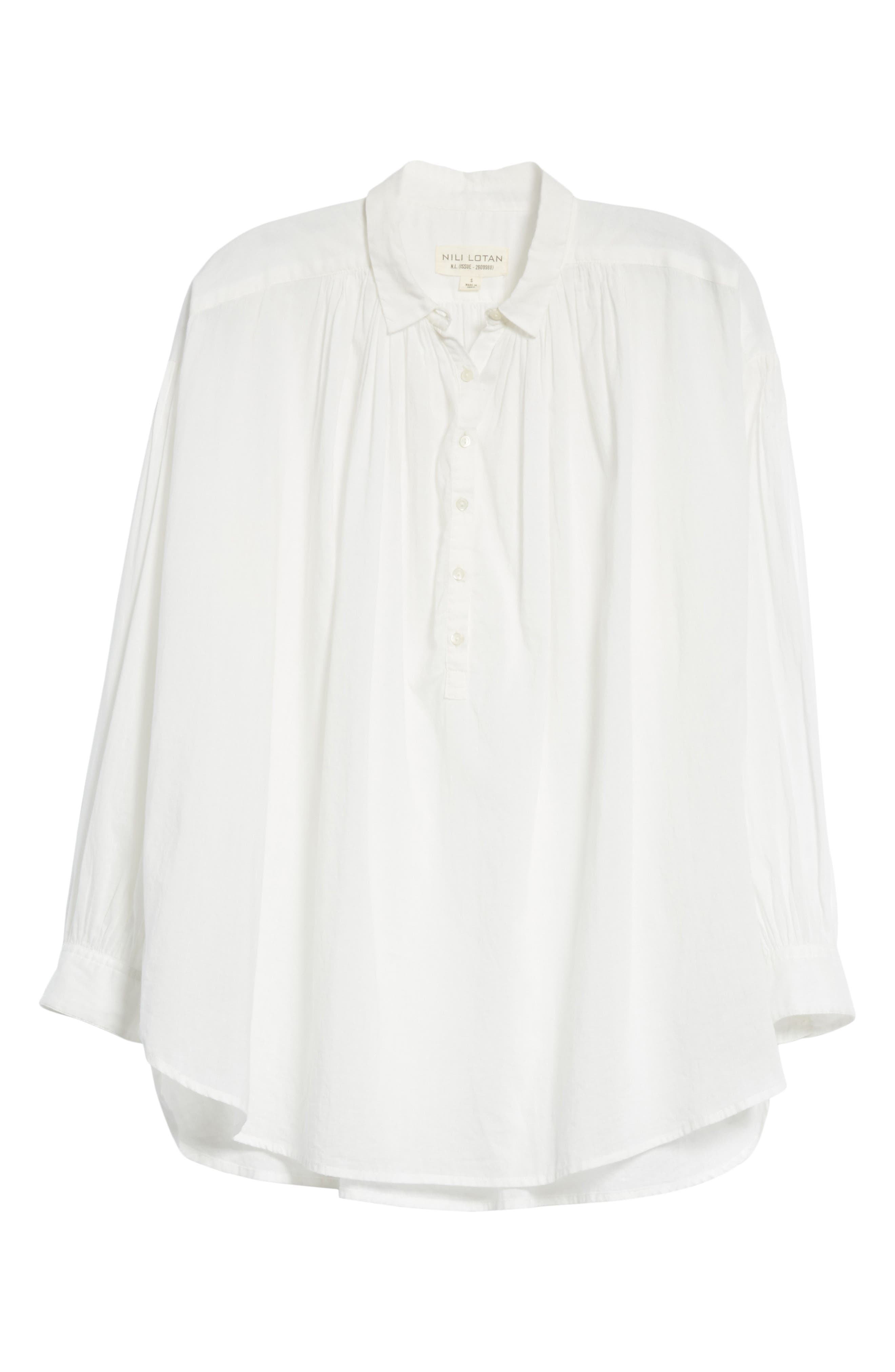 Miles Gathered Yoke Blouse,                             Alternate thumbnail 6, color,                             902
