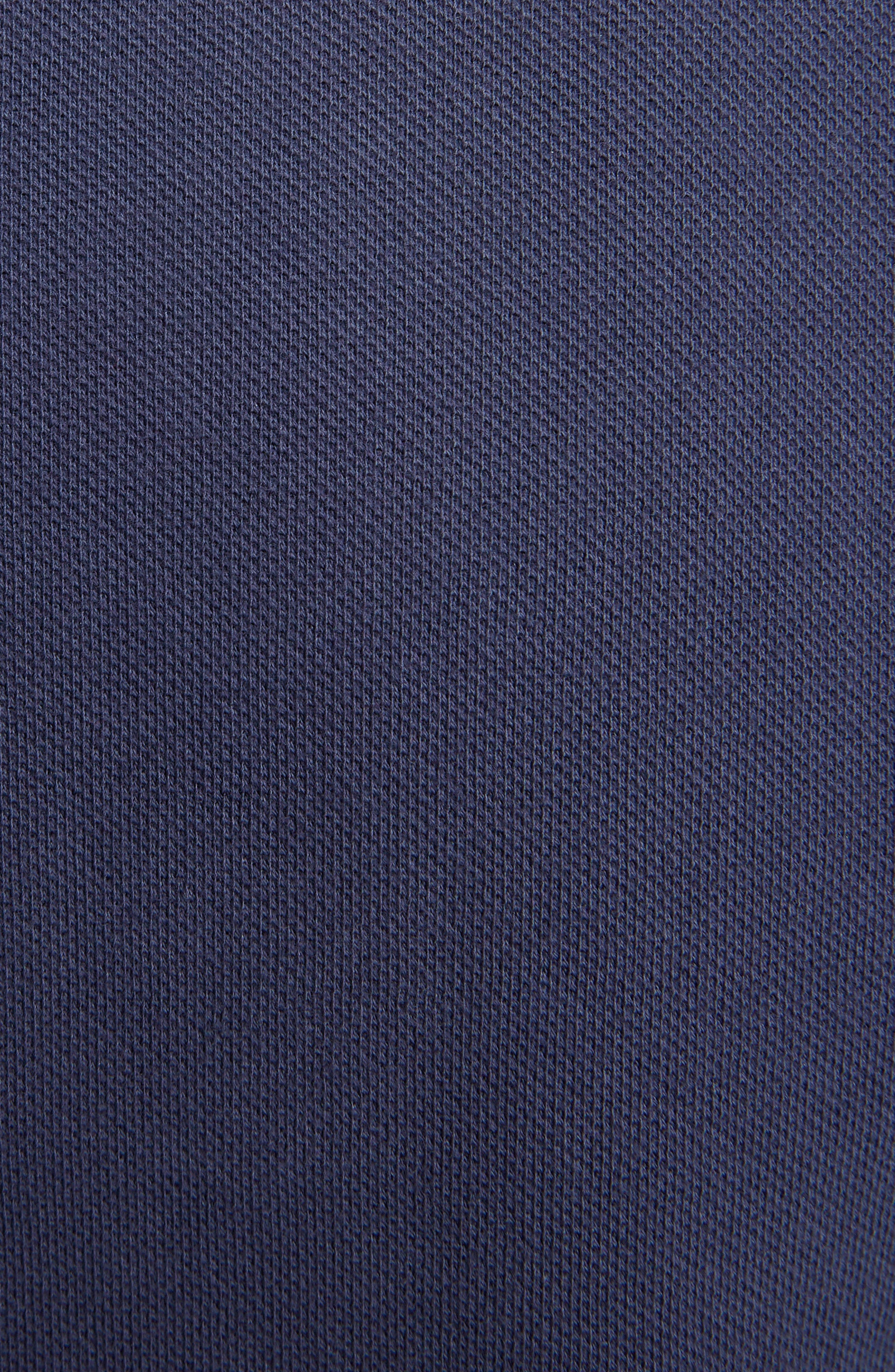 Placket Embroidered Tipped Piqué Polo,                             Alternate thumbnail 5, color,                             INK