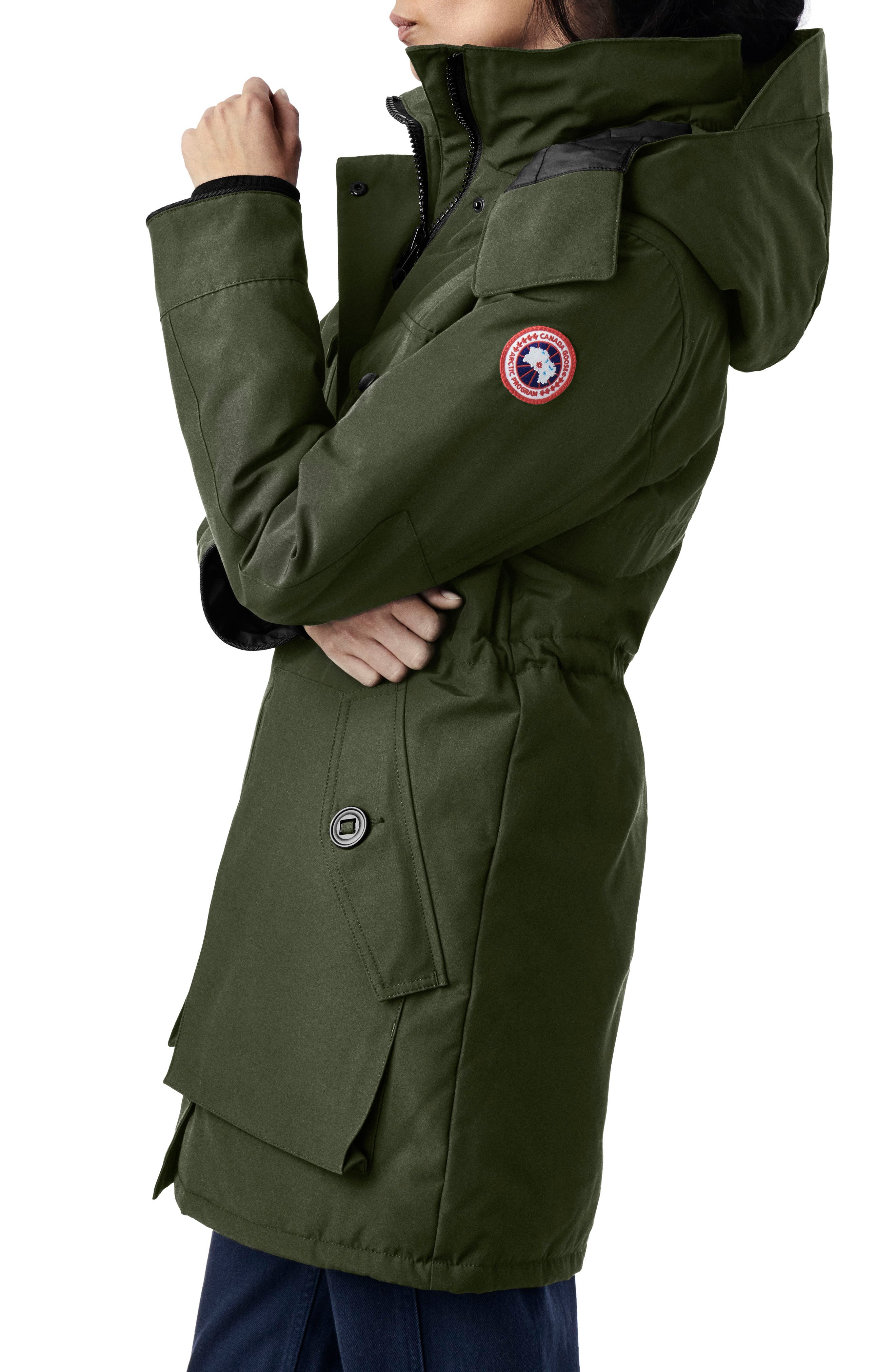 Gabriola Water Resistant Arctic Tech 625 Fill Power Down Parka,                             Alternate thumbnail 2, color,                             MILITARY GREEN
