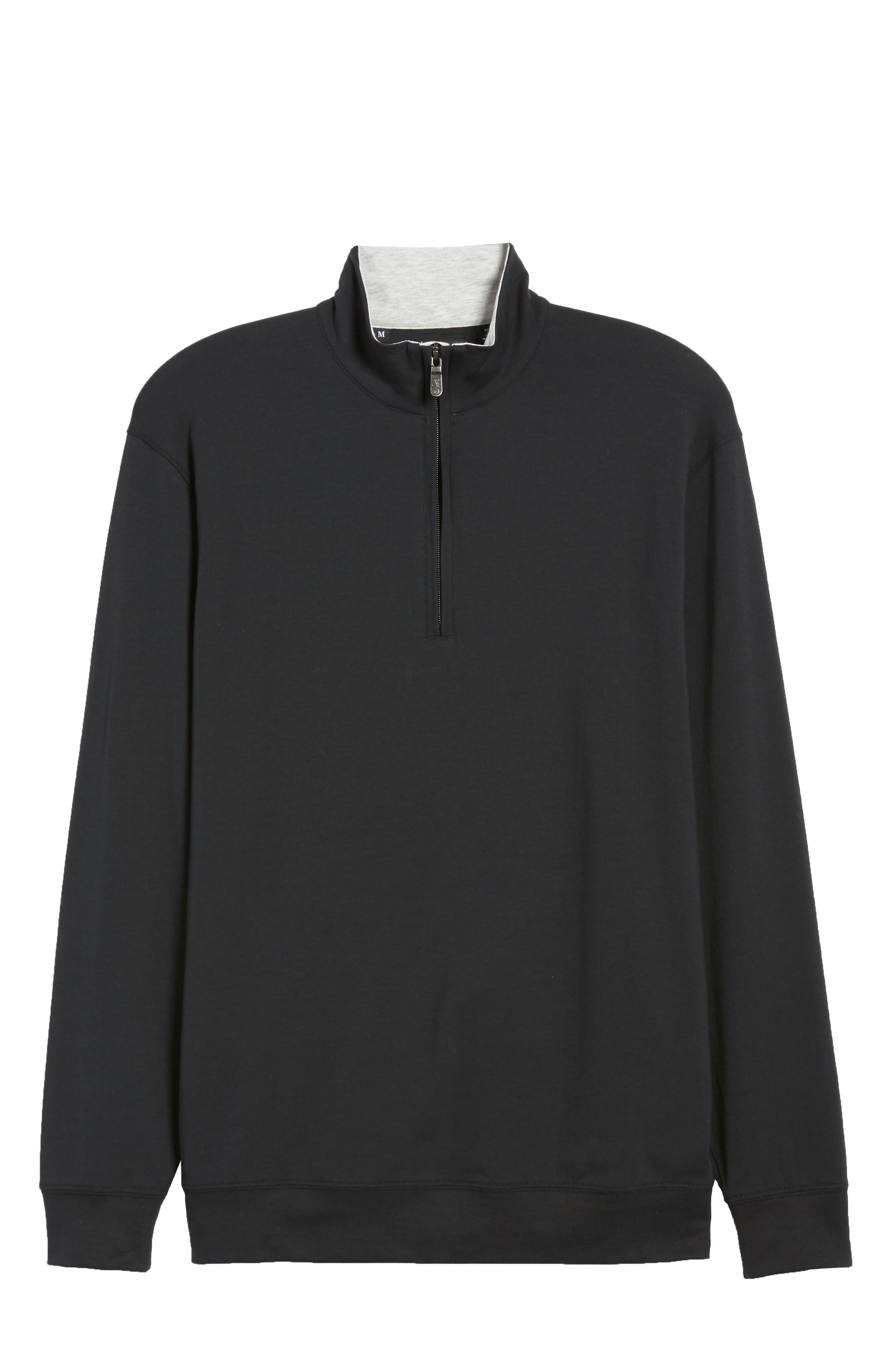 PTO Liquid Stretch Quarter Zip Pullover,                             Alternate thumbnail 6, color,                             BLACK