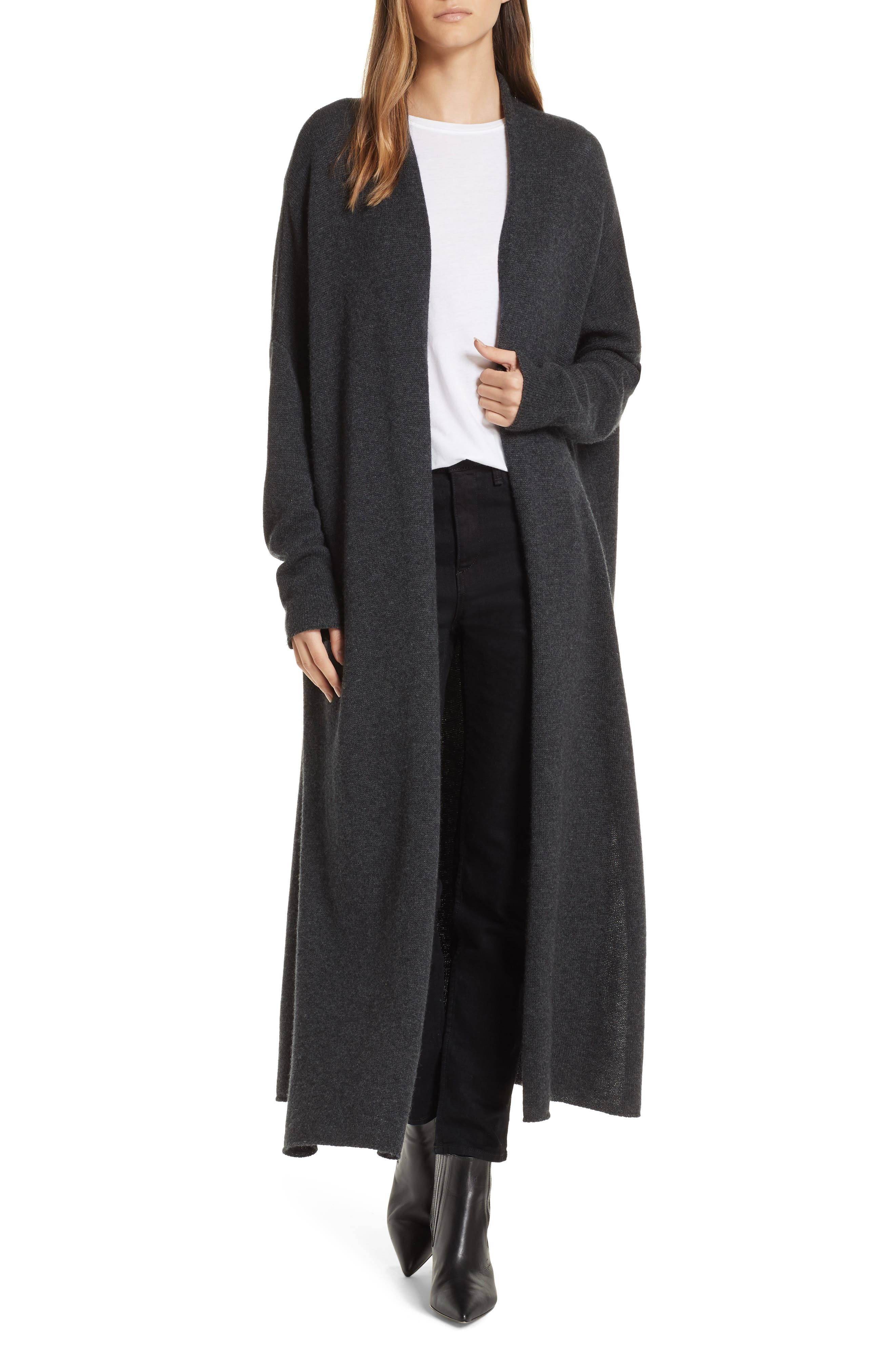 Orial Wool Cashmere Duster,                             Main thumbnail 1, color,                             CHARCOAL