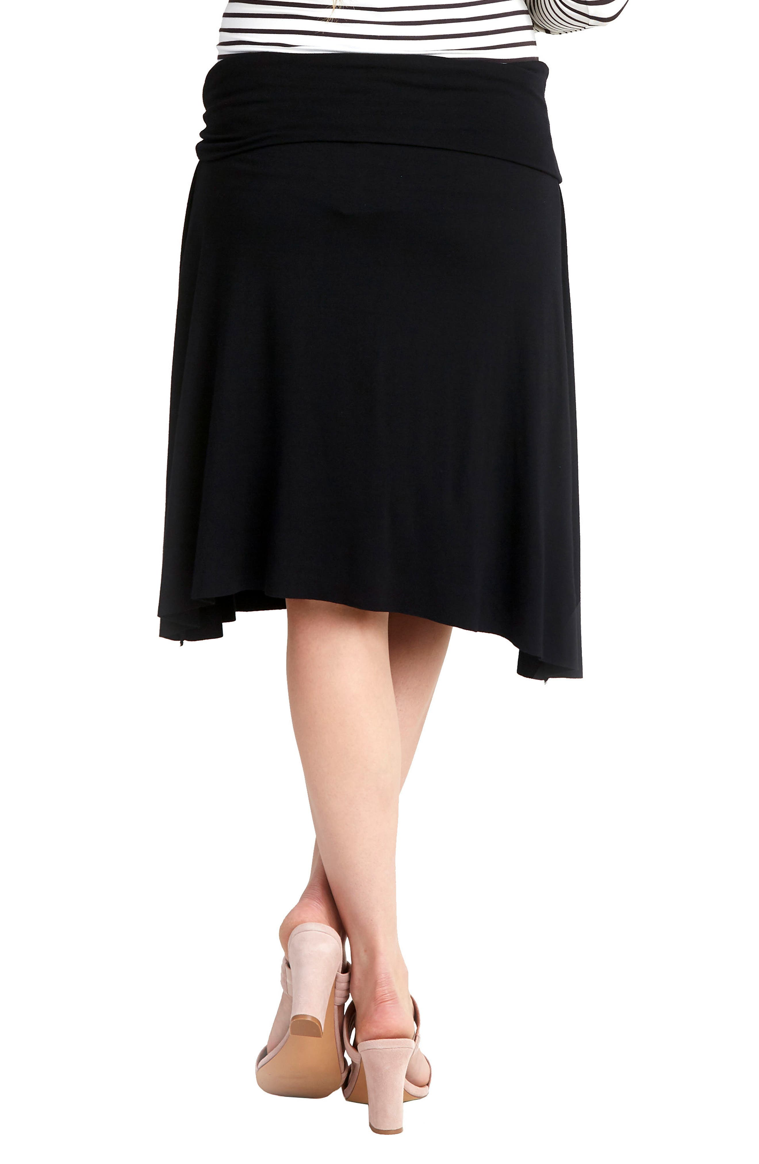 NOM Nola Maternity Skirt,                             Alternate thumbnail 2, color,                             BLACK