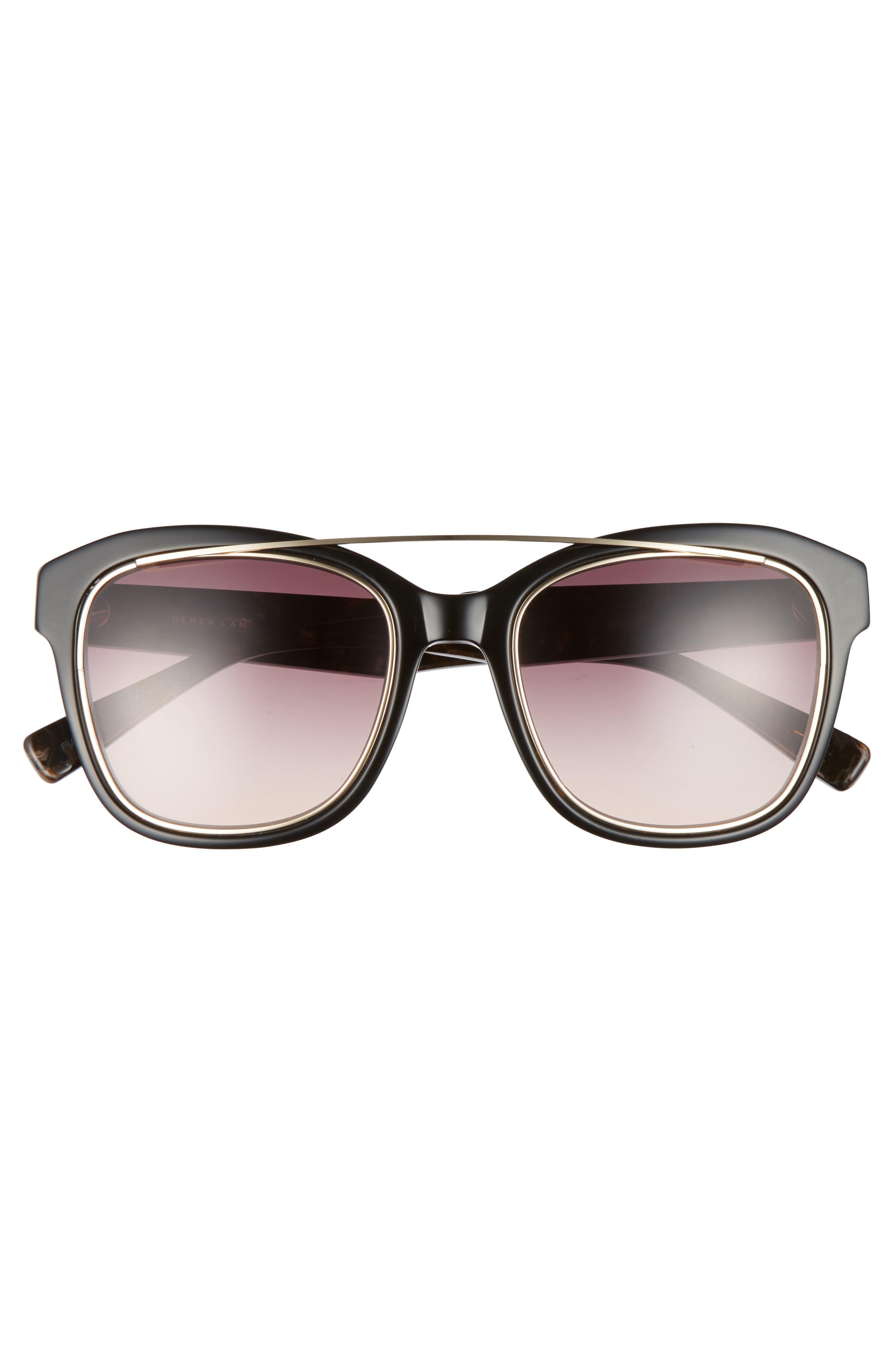 DEREK LAM,                             Hudson 52mm Gradient Sunglasses,                             Alternate thumbnail 3, color,                             001