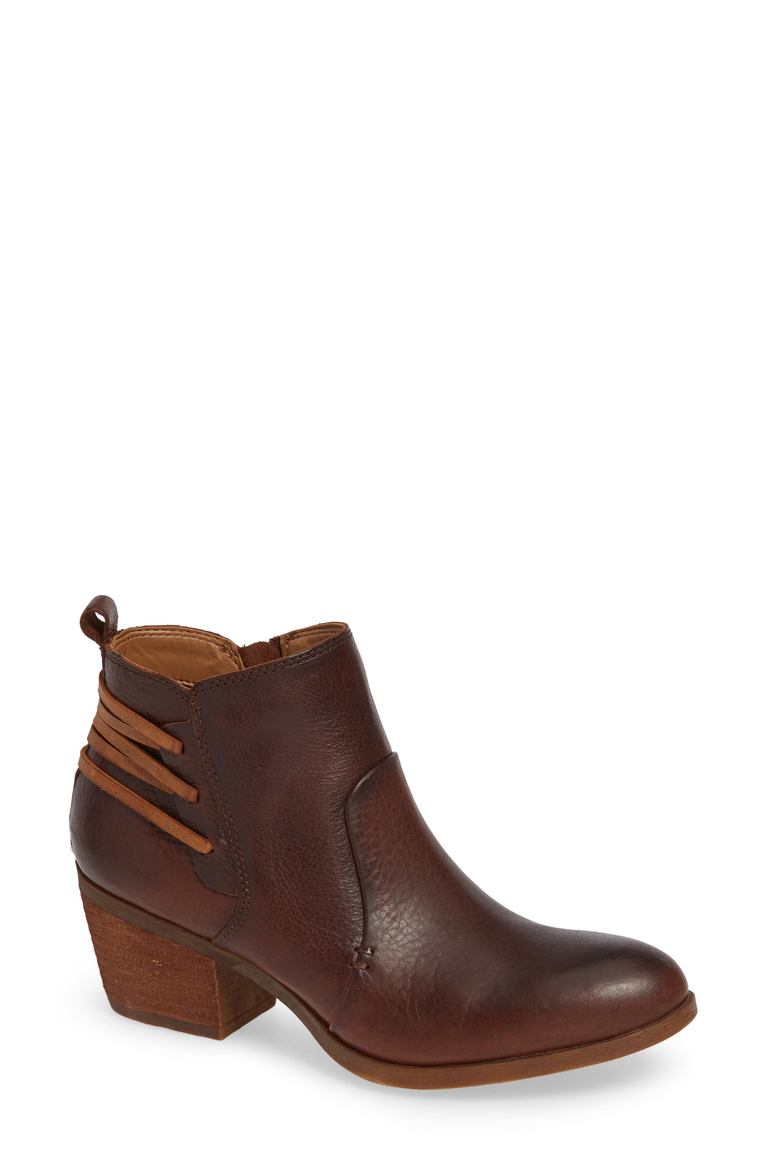 Kinsley Bootie,                             Main thumbnail 1, color,                             WHISKEY/ ALMOND