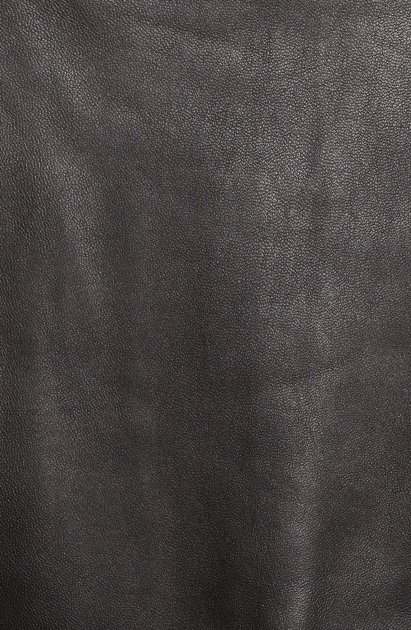 Leather Moto Jacket,                             Alternate thumbnail 11, color,