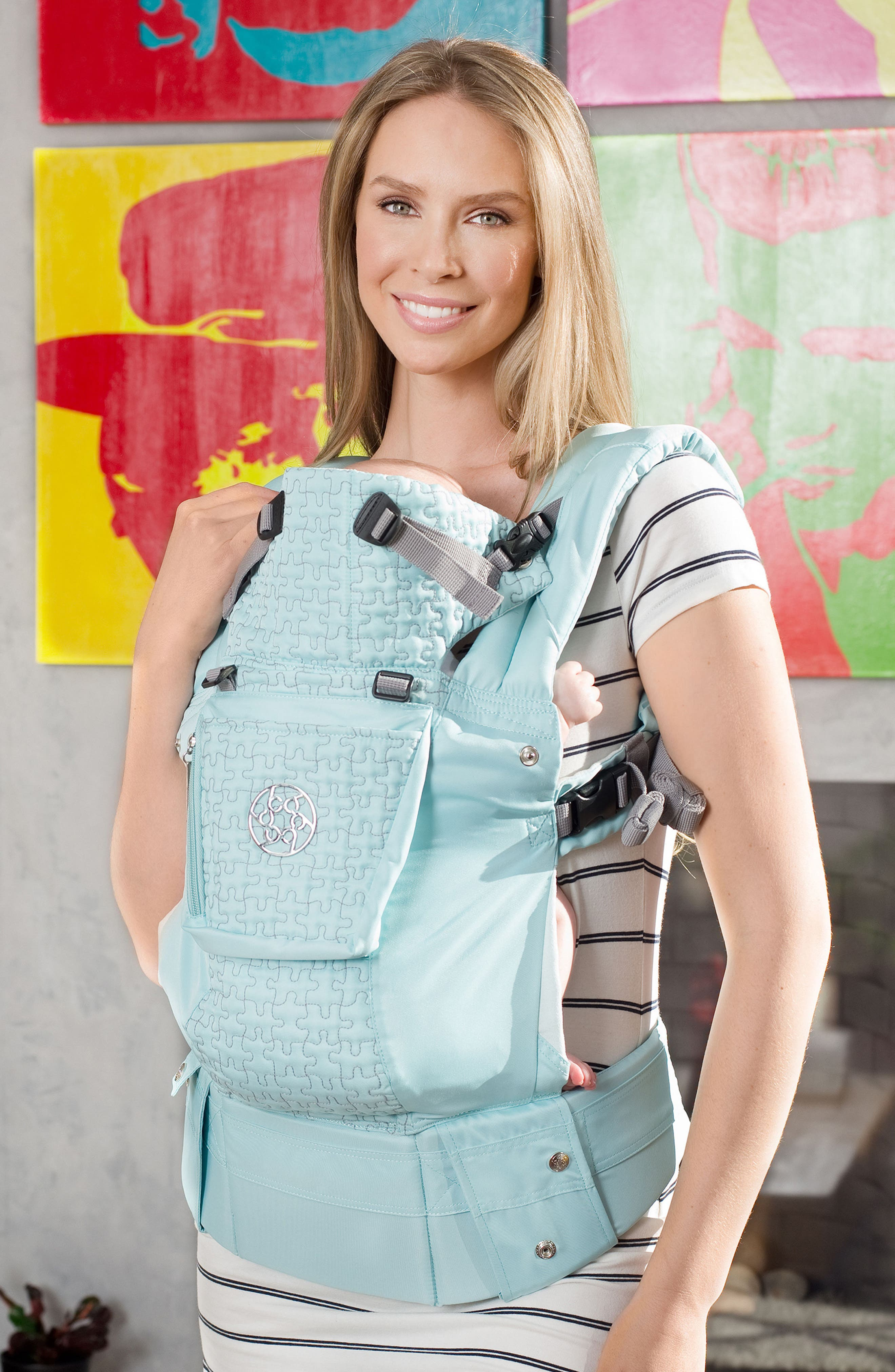 'Complete Embossed Luxe' Baby Carrier,                             Alternate thumbnail 2, color,                             GREEN