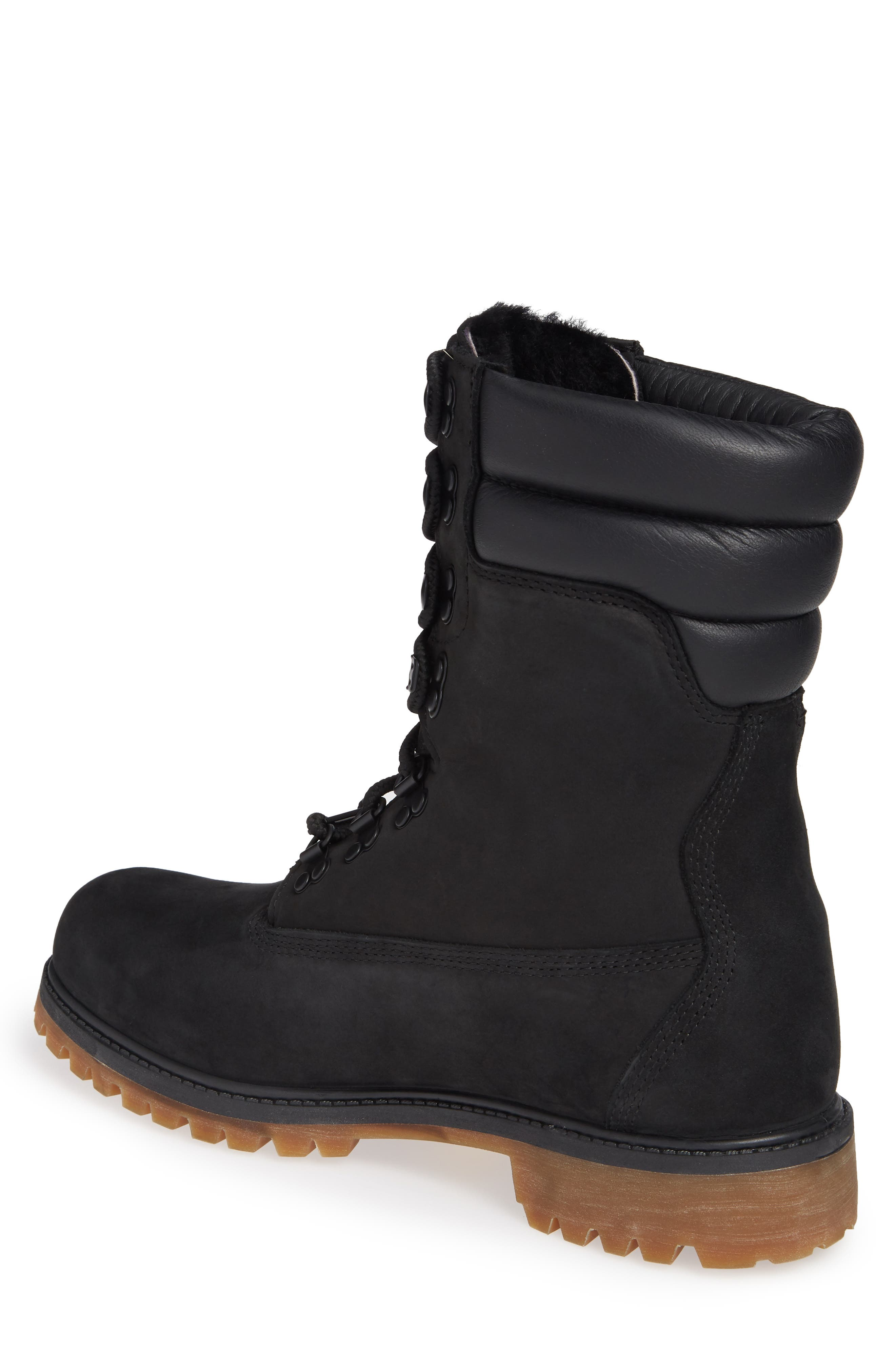 TIMBERLAND,                             Level 0 Super Boot,                             Alternate thumbnail 2, color,                             BLACK LEATHER
