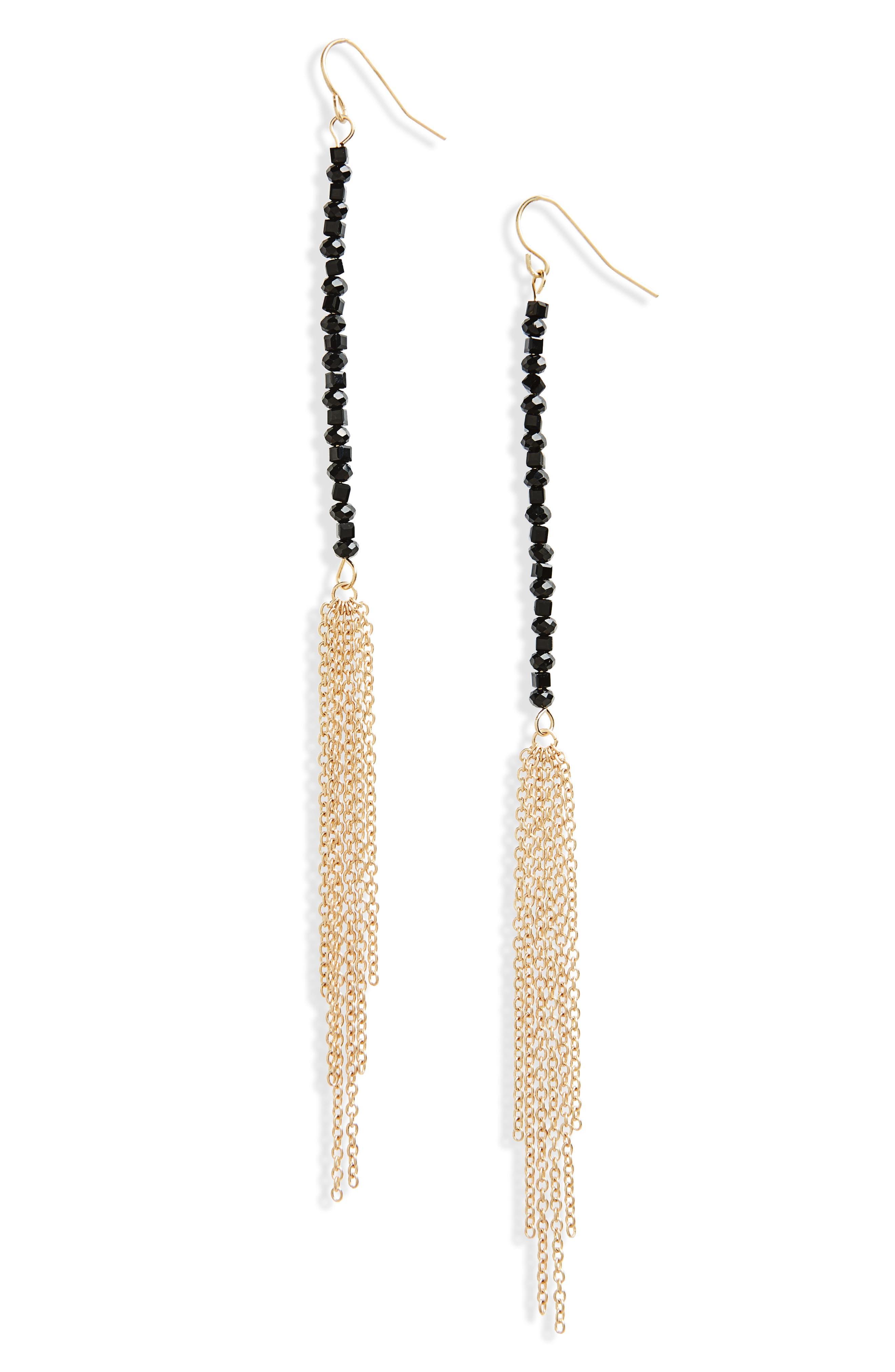Beaded Linear Earrings,                             Main thumbnail 1, color,