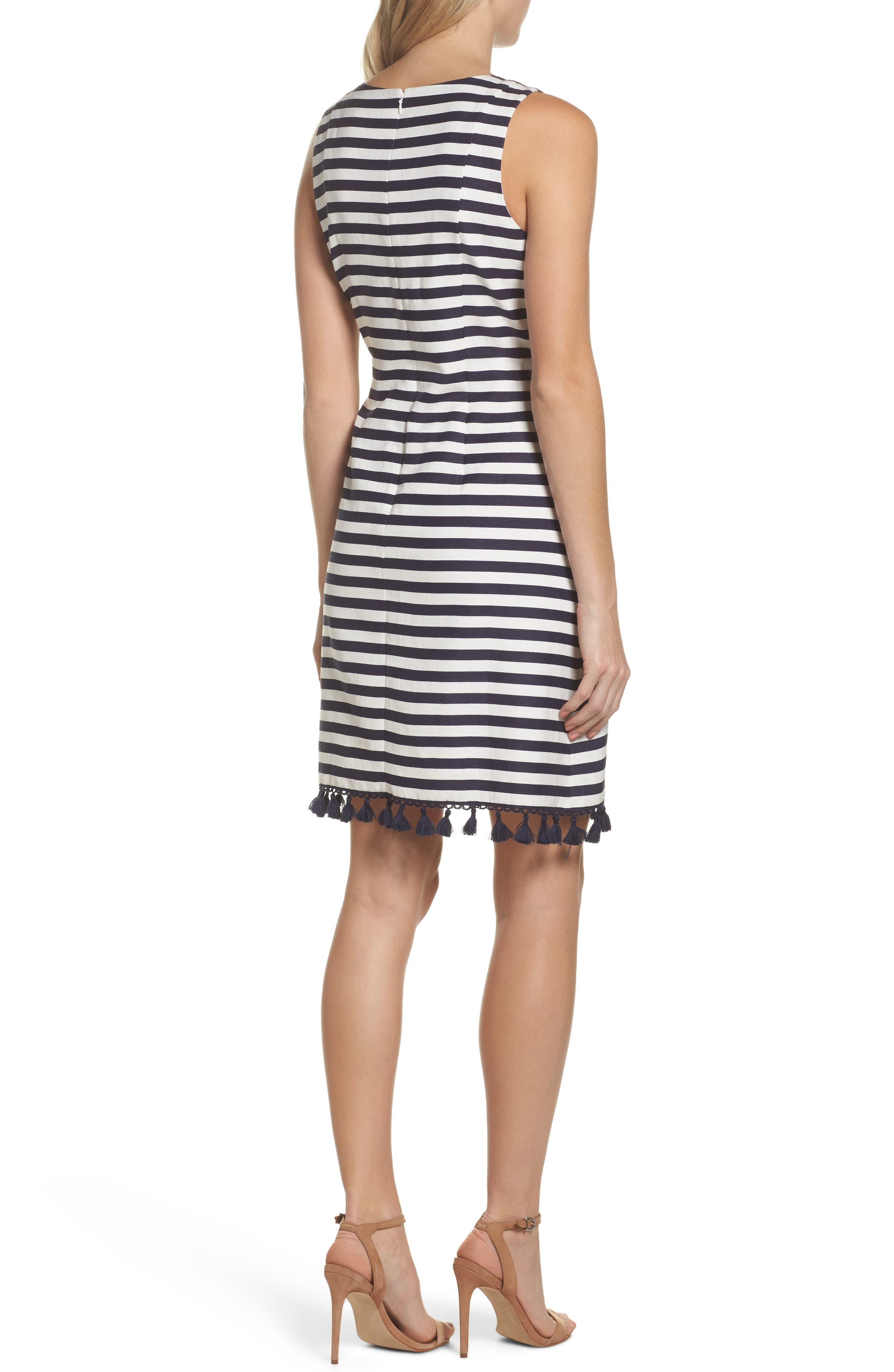 Stripe A-Line Dress,                             Alternate thumbnail 2, color,                             455