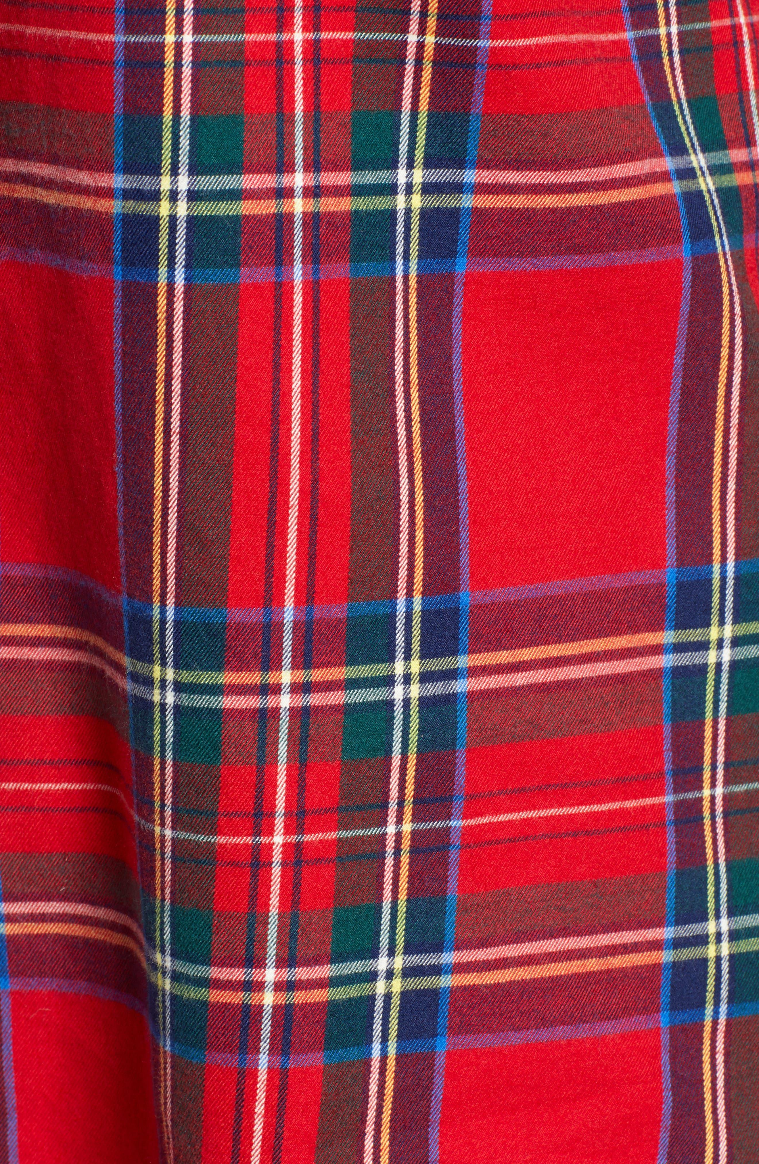 Morgan Jolly Plaid Flannel Shirt,                             Alternate thumbnail 5, color,                             600