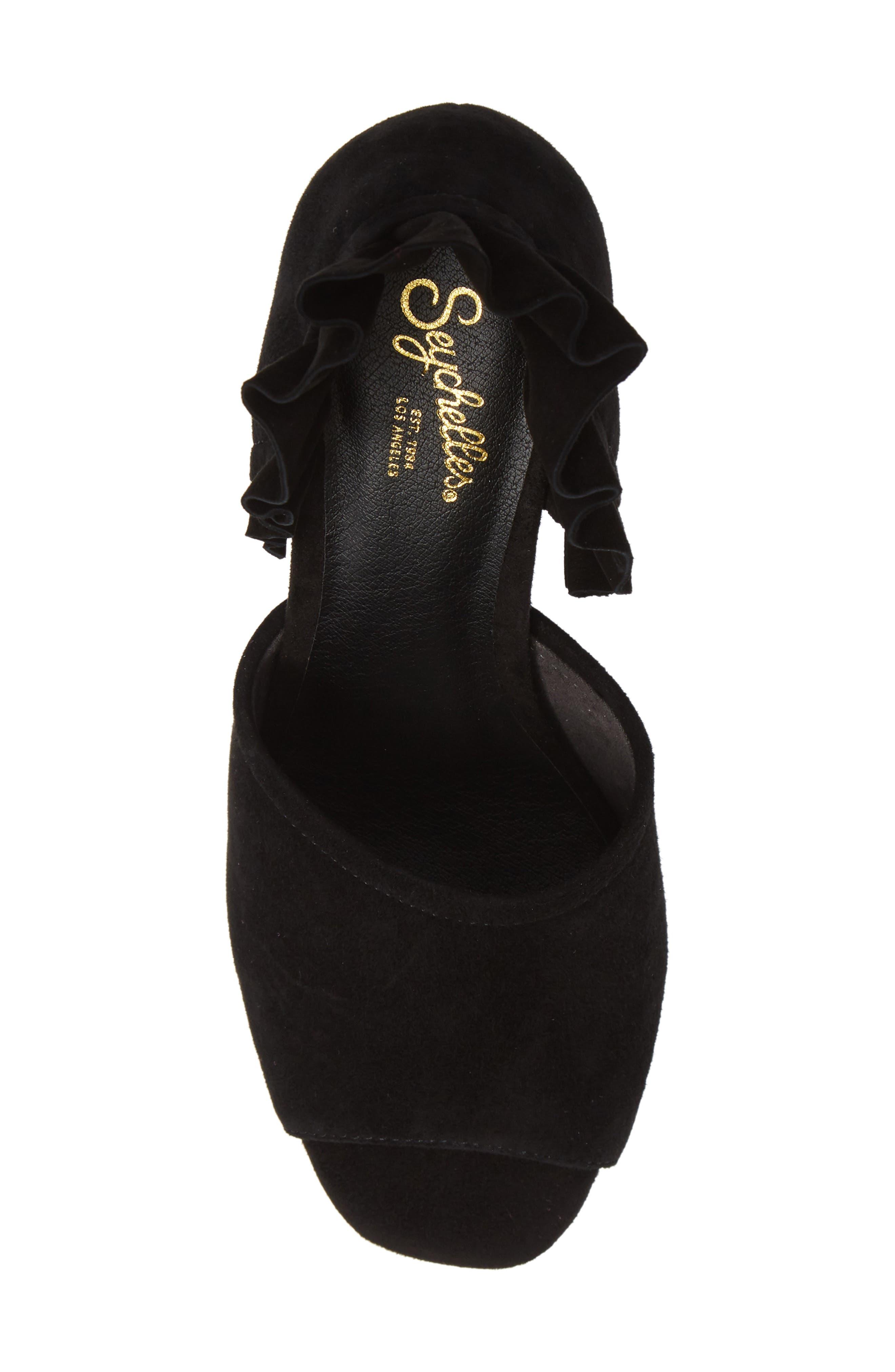 Tropical Sandal,                             Alternate thumbnail 5, color,                             BLACK SUEDE