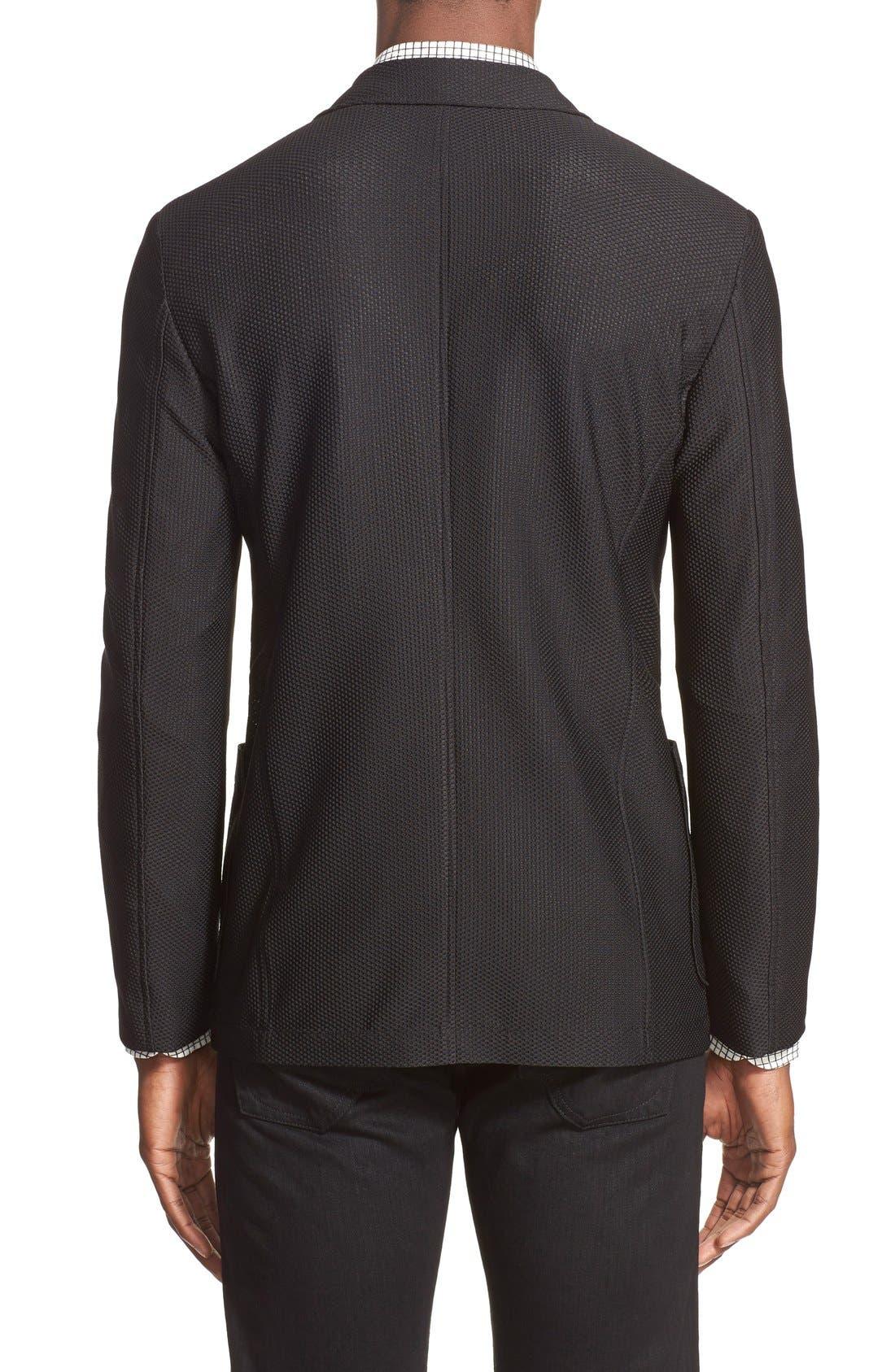 Trim Fit Textured Sport Coat,                             Alternate thumbnail 2, color,                             004